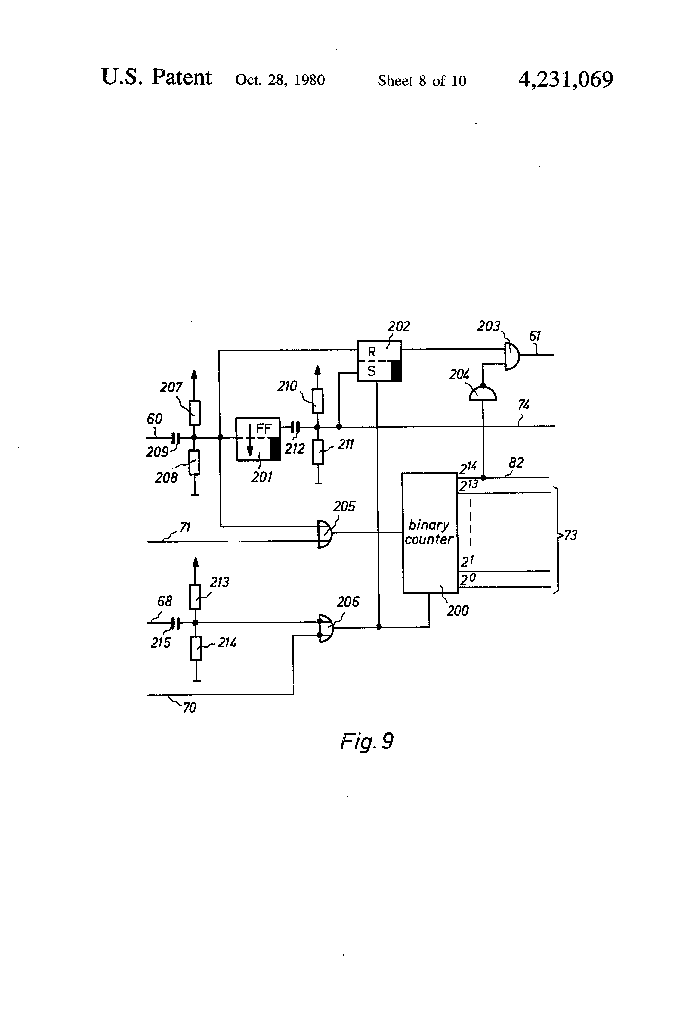 Patent Us4231069 Method And Apparatus For Producing Image Binary Counter Circuit Diagram Drawing