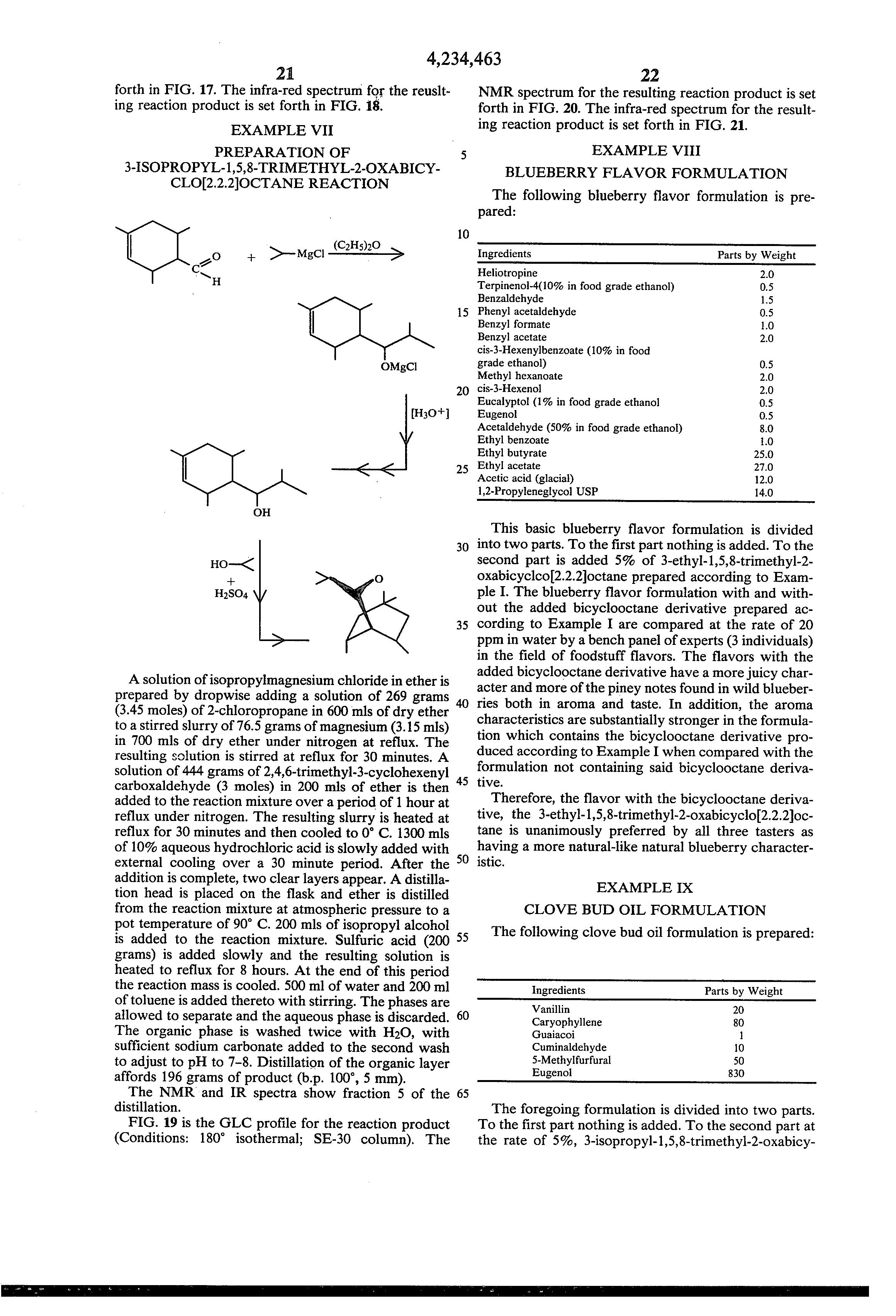 Patent US4234463 - Cyclohexene methanol derivatives in