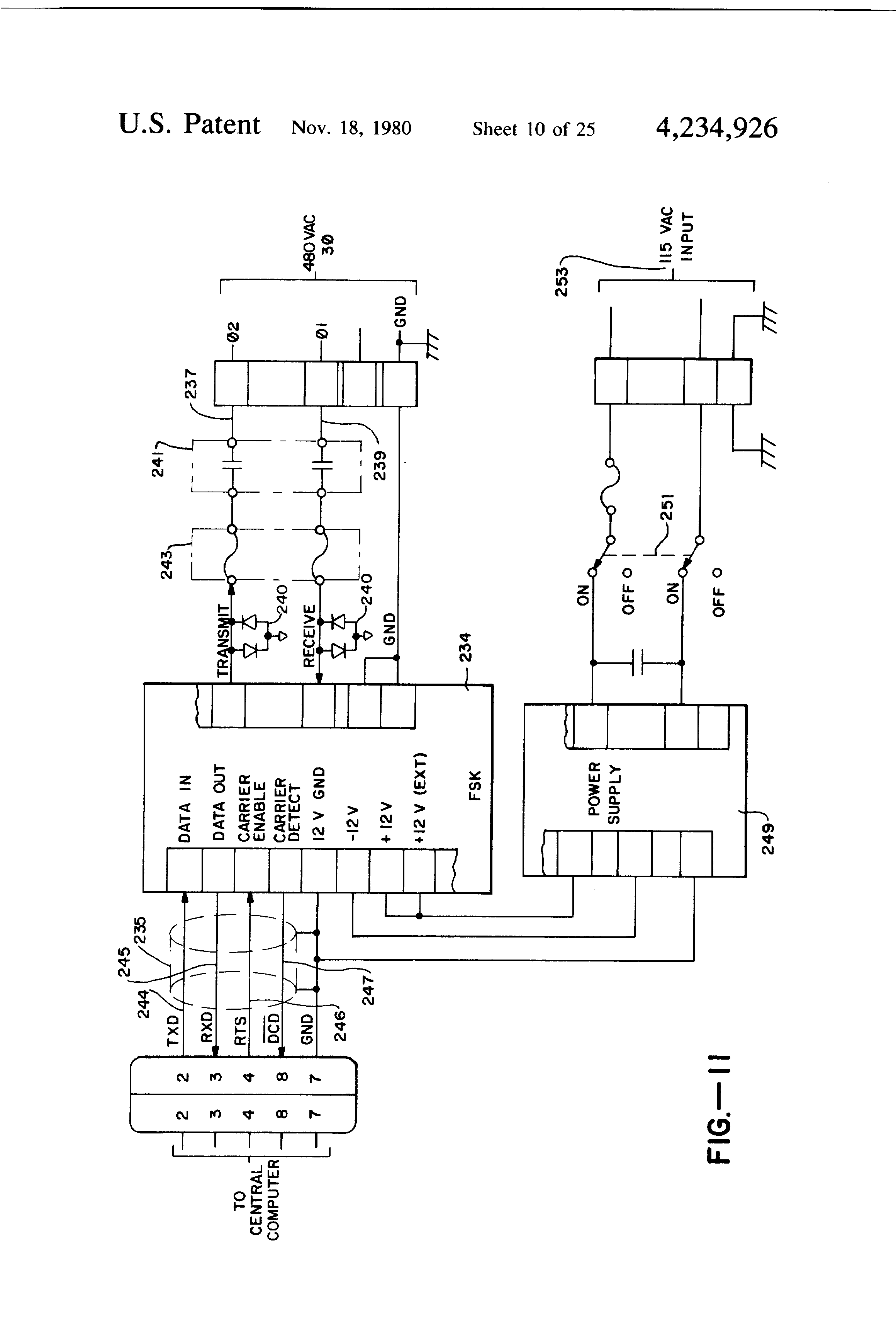 Us4234926a System Method For Monitoring Diagnosing Faults In International 966 Wiring Diagram Environmentally Controlled Containers Such And Being Especially Adapted