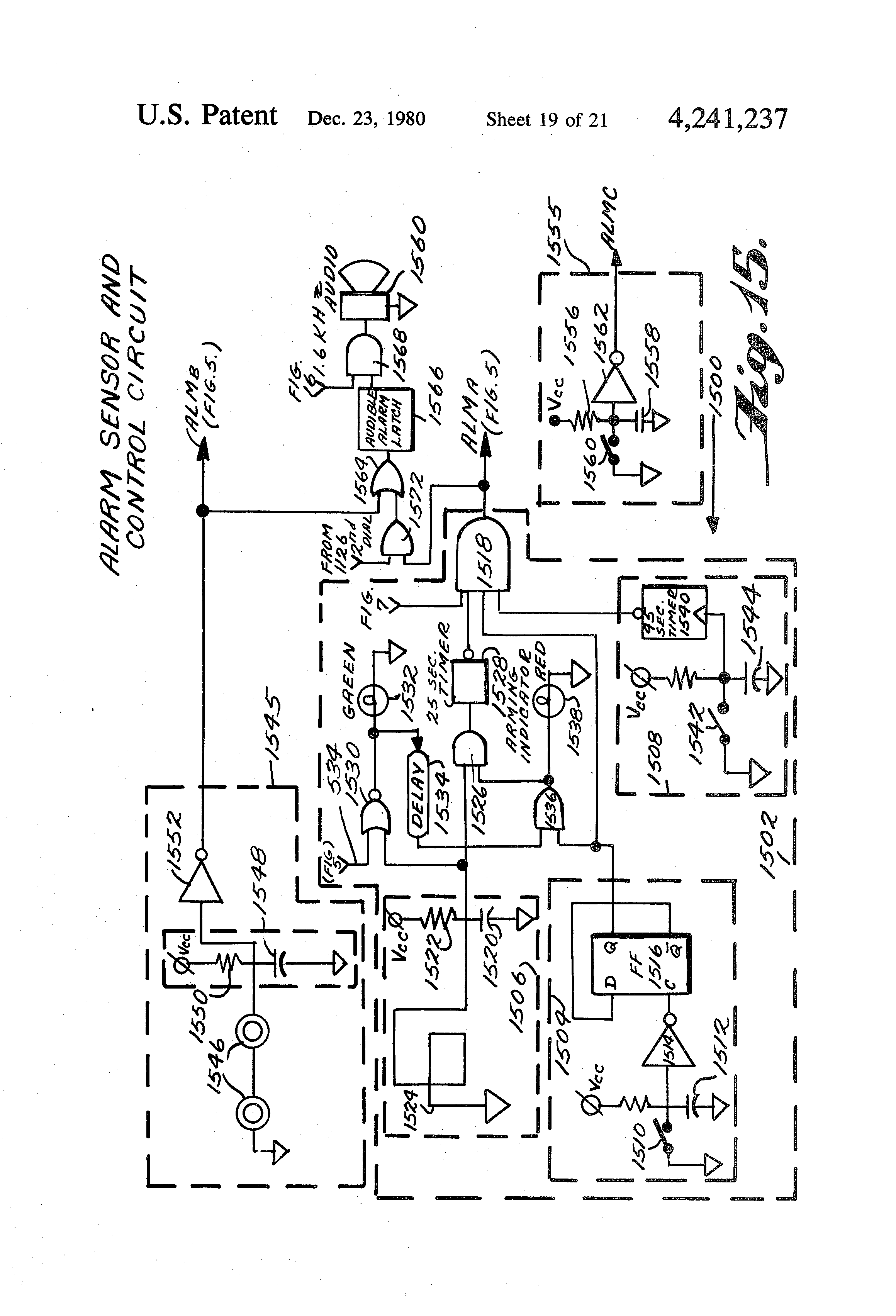 Patent Us4241237 Apparatus And Method For Remote Sensor Monitoring Home Variac Wiring Diagrampng Drawing