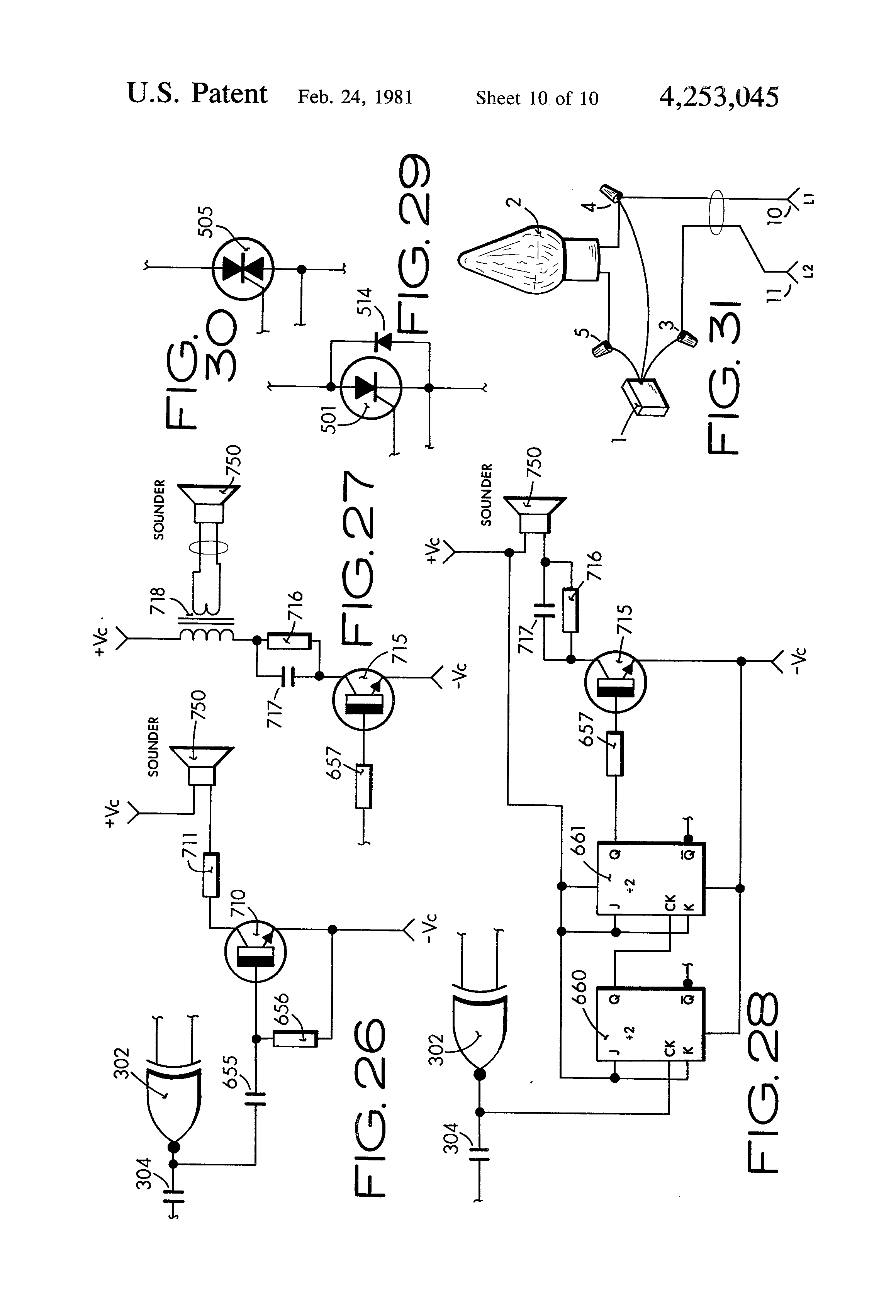 patent us4253045 - flickering flame effect electric light controller