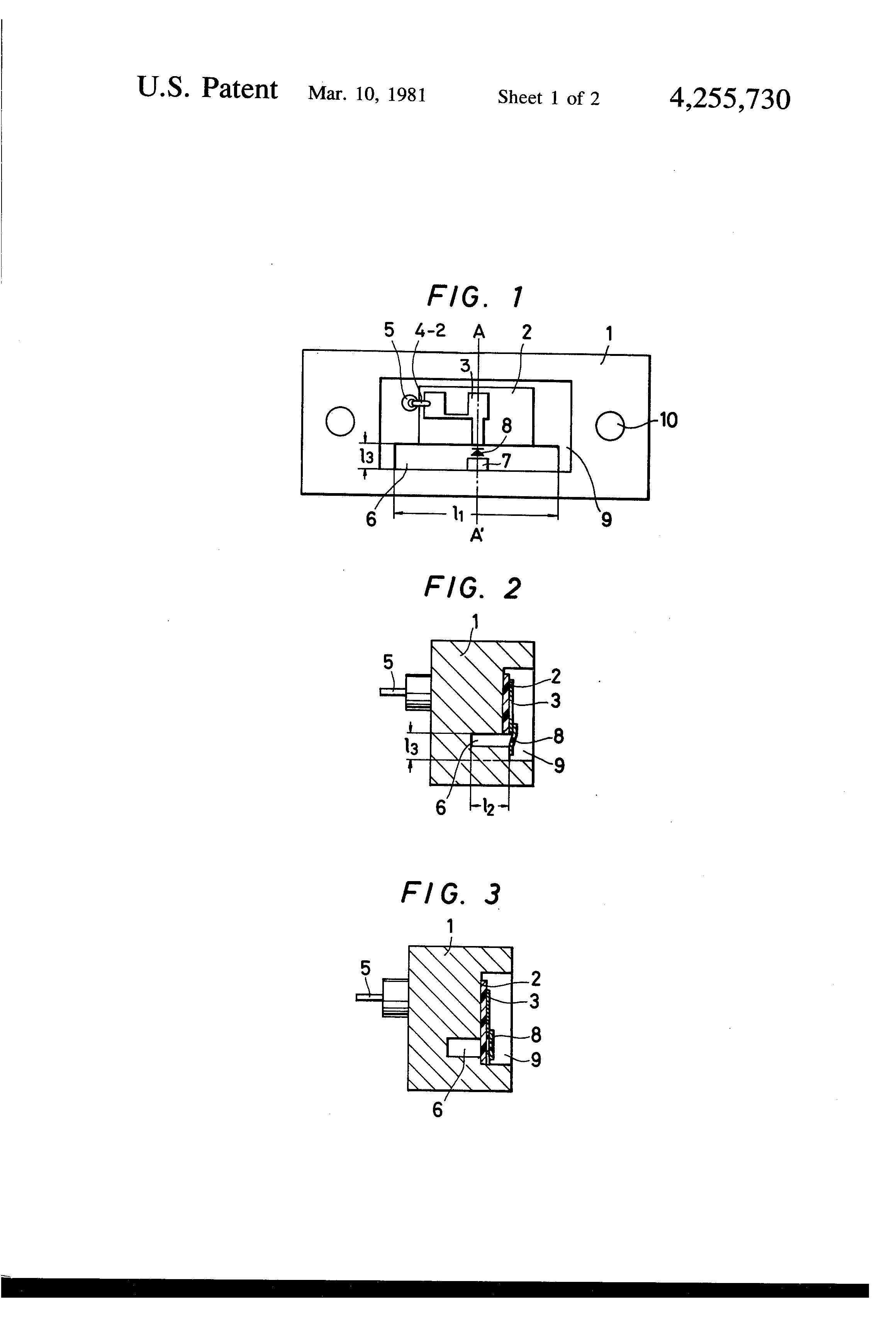 Us4255730 Microwave Integrated Circuit Device Monolithic Videos Patent Drawing