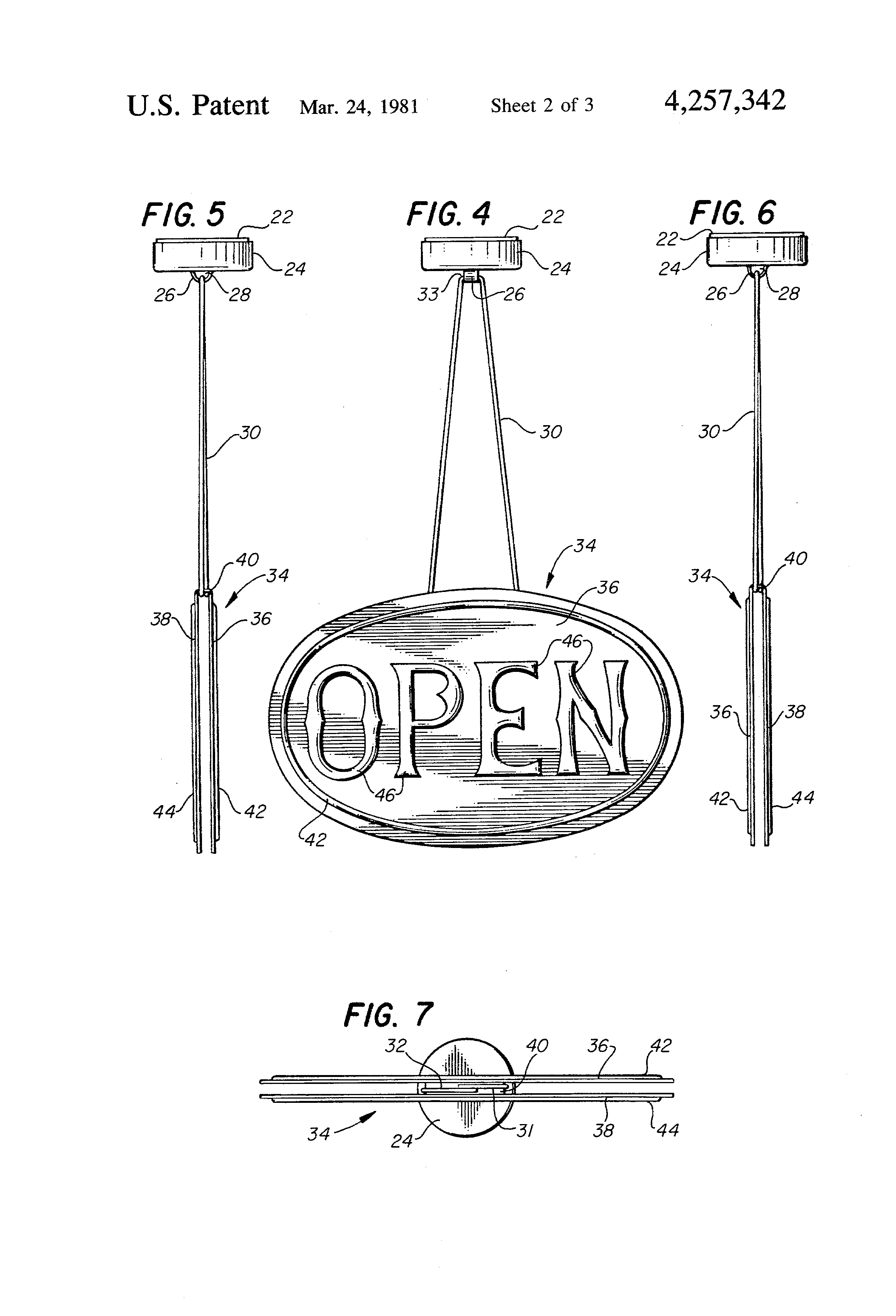Patent Us4257342 Fireplace Damper Position Indicator