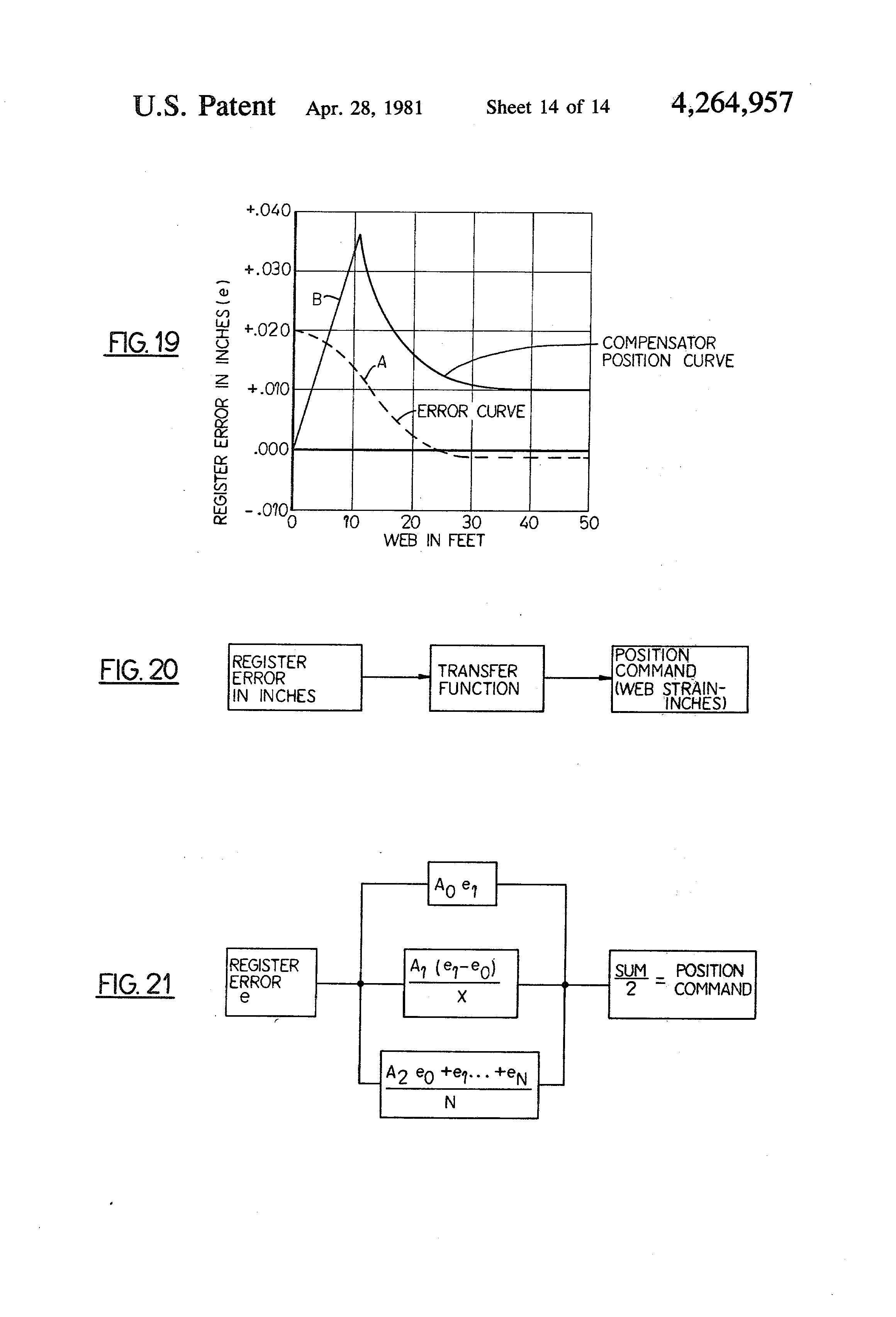 Patent Us4264957 Apparatus And Method For Register Control In Web Offset Press Diagram Gravure Printing Drawing