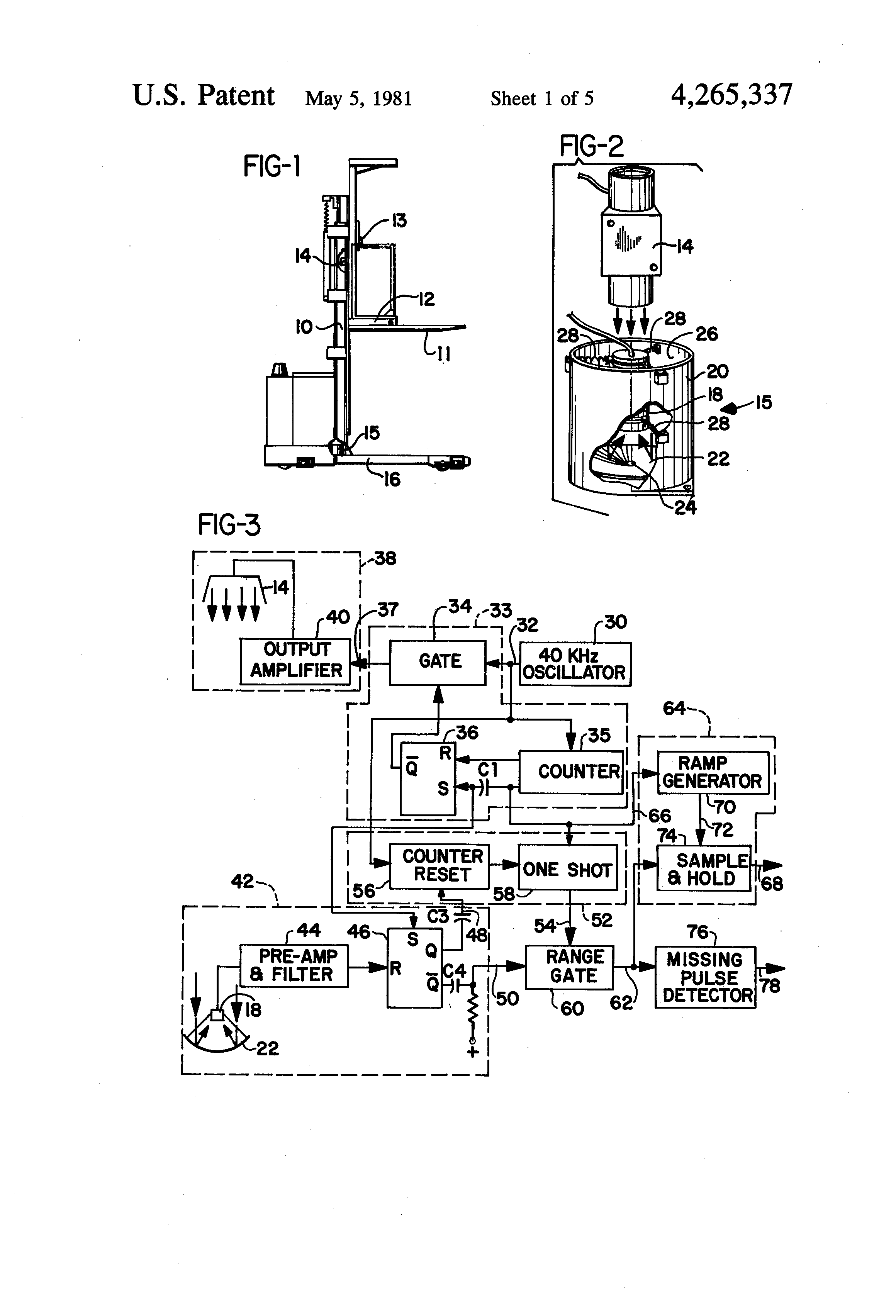 patent us4265337 fork lift truck speed dependent upon fork elevation patents