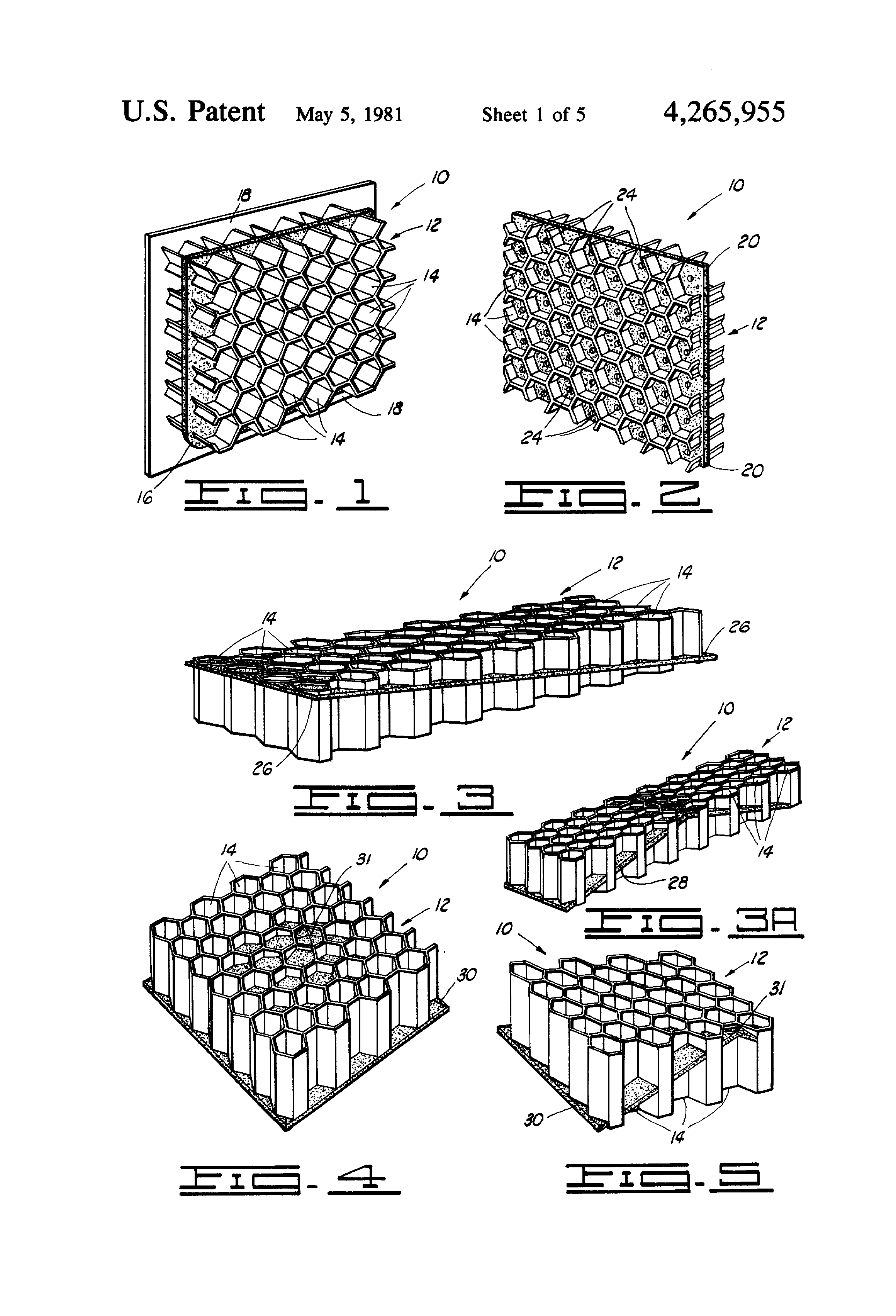Patent US4265955...Honeycomb Core Forming
