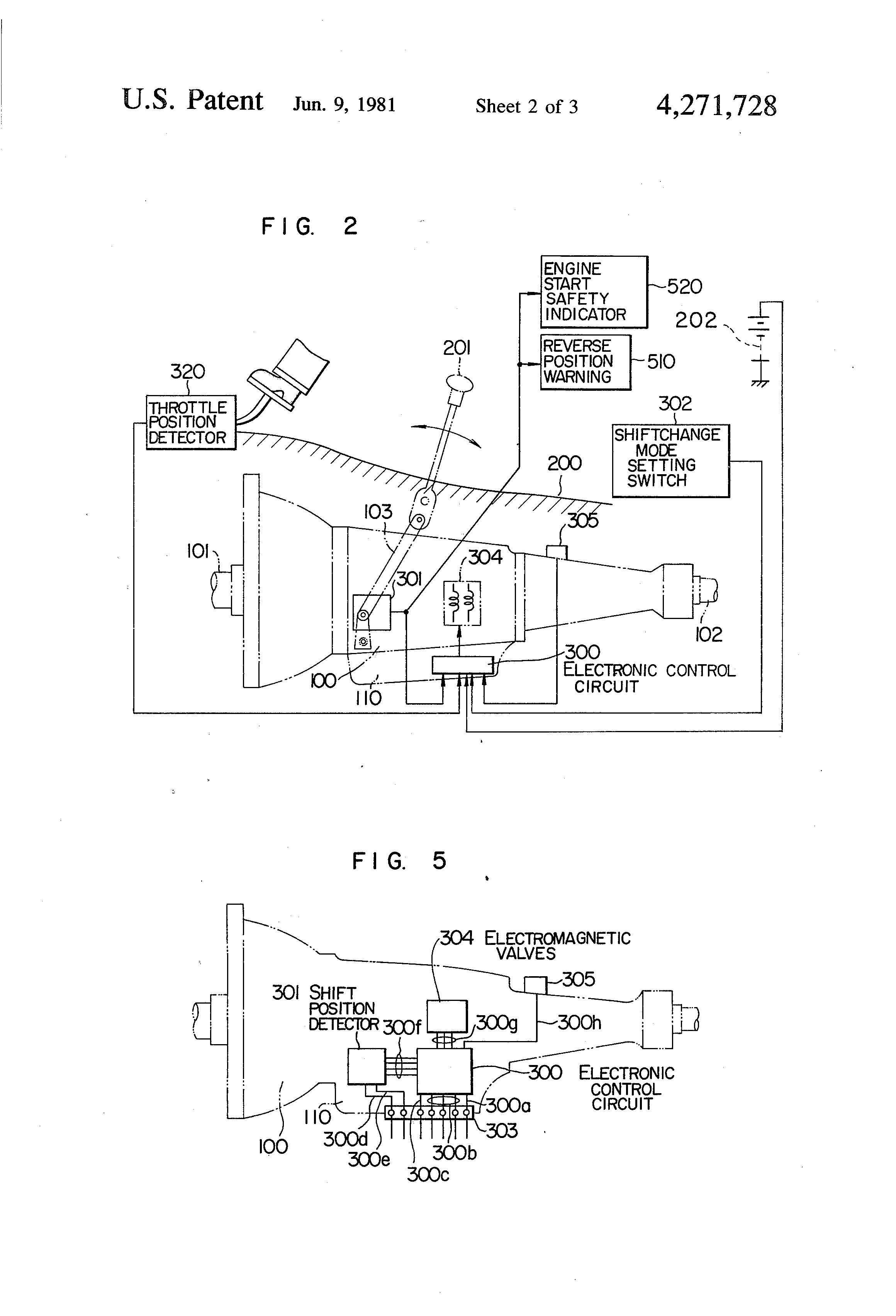 patent us4271728 - automatic transmission system