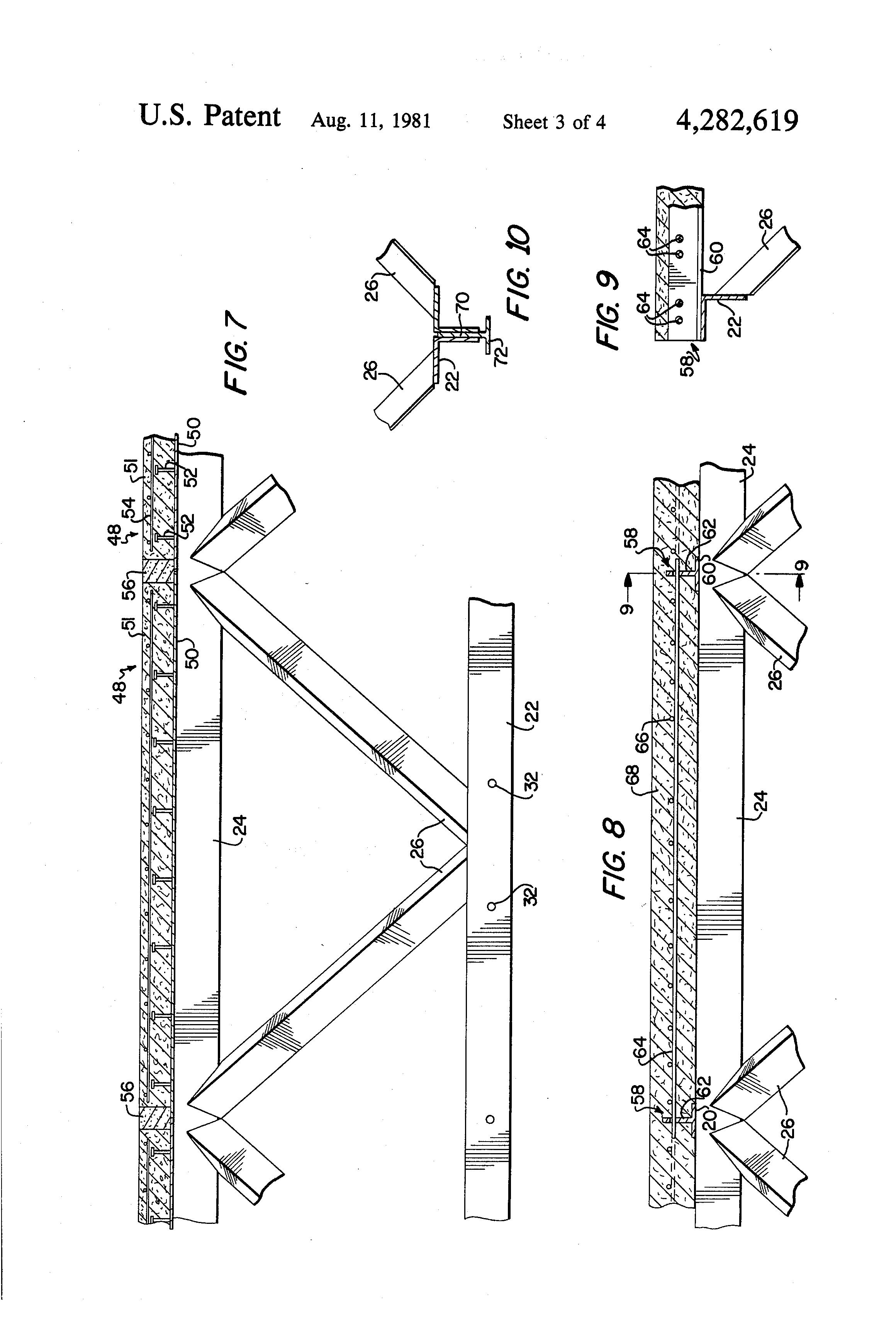 patent us4282619 - truss structure