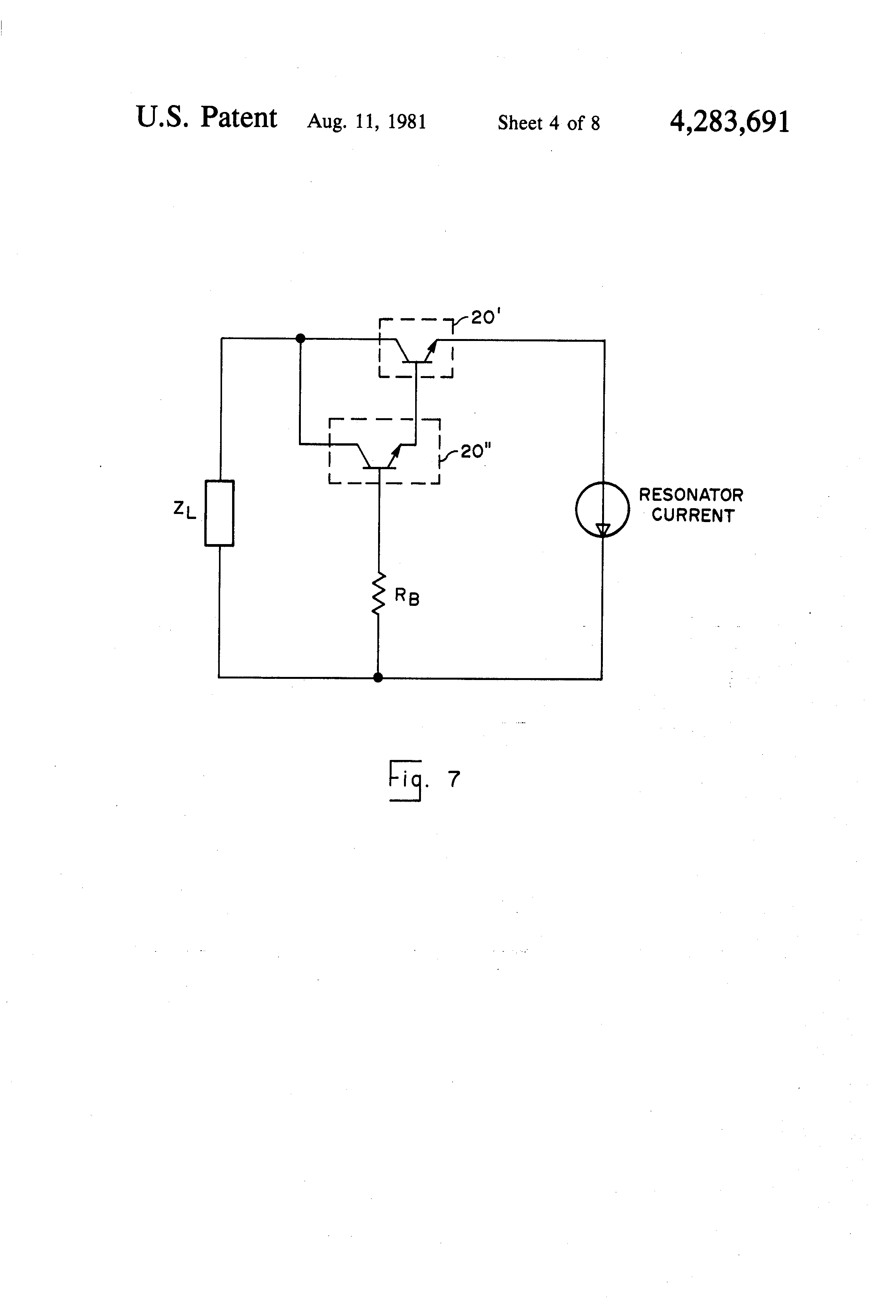 Patent Us4283691 Crystal Oscillator Having Low Noise Signal Element Circuit Colpitts Drawing