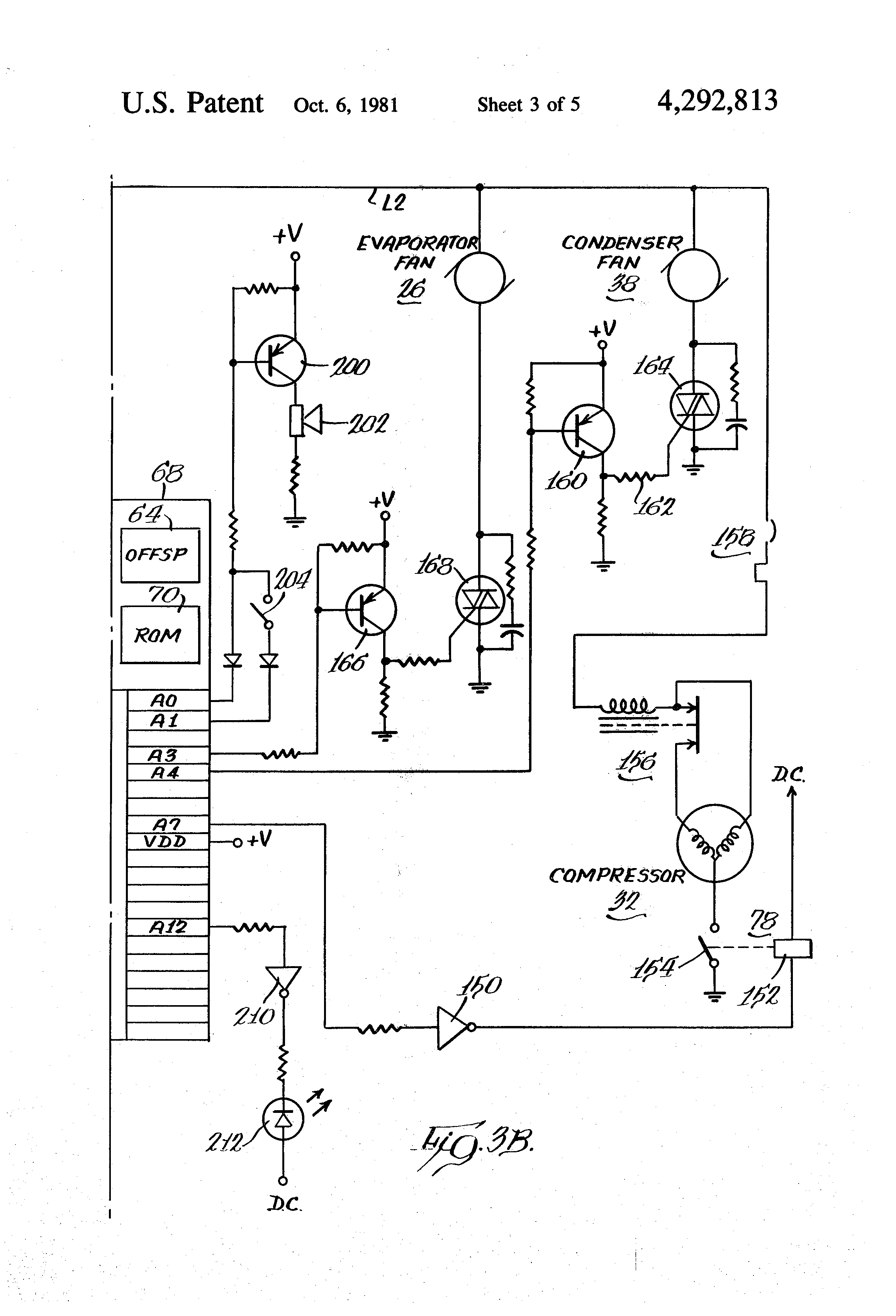 Patent Us4292813 Adaptive Temperature Control System Google Patents Overvoltage Protected Compressor Drawing