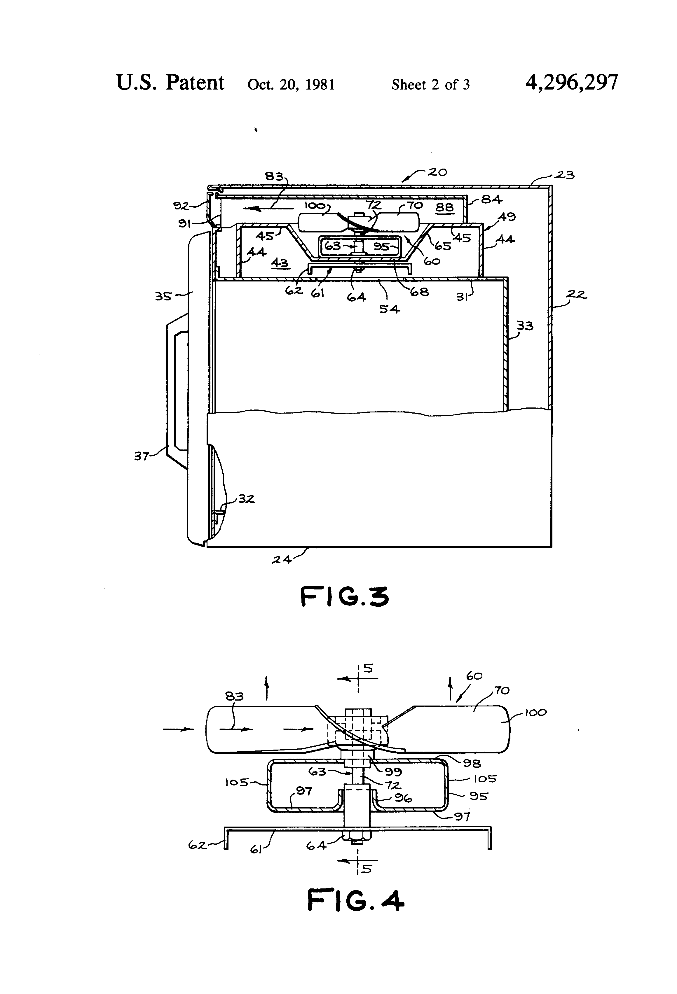 Patent Us4296297 Drive Arrangement For Microwave Oven