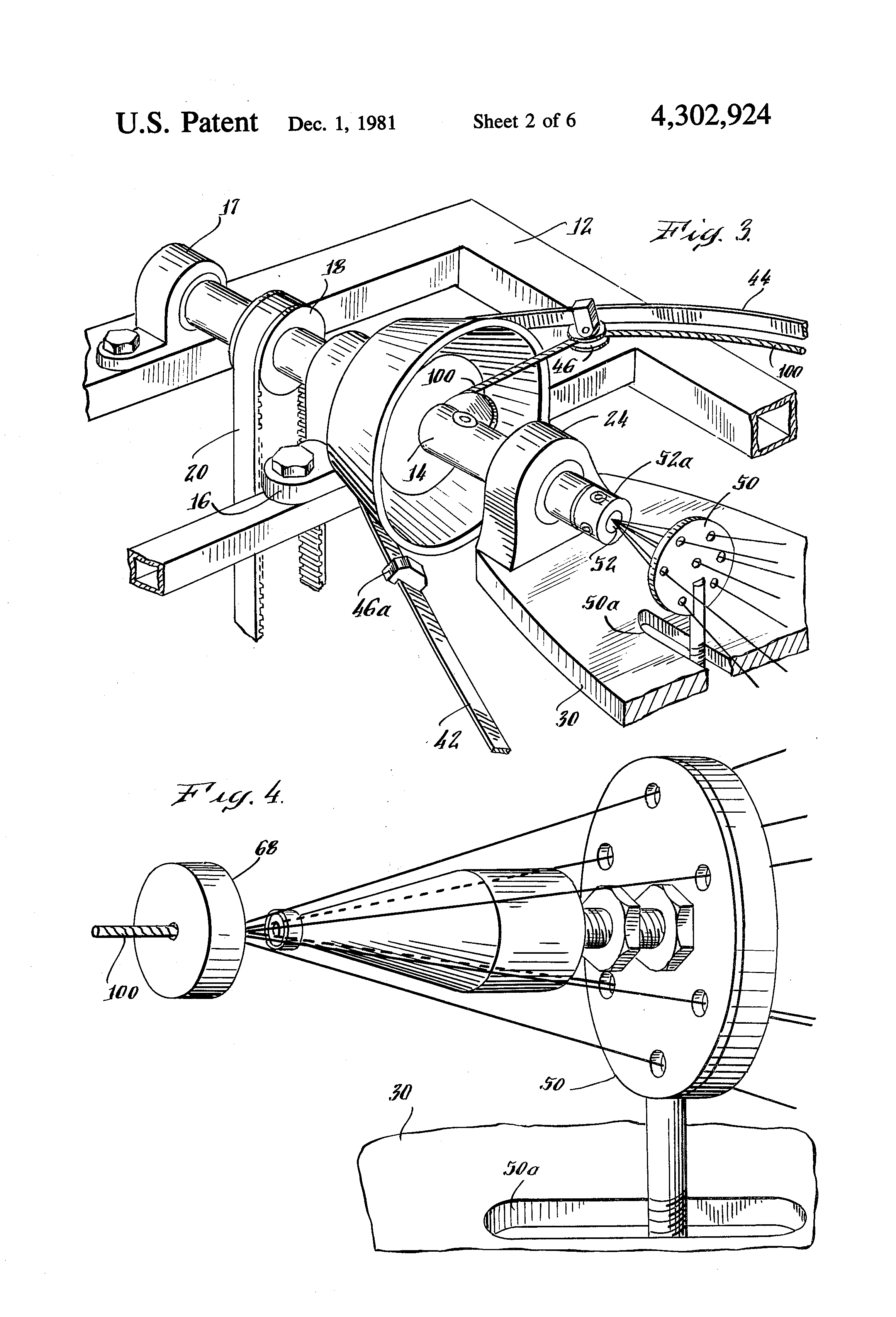 Fig Back Of Typical Alternator Illustrating Wiring Patent Us4302924 Wire Stranding Apparatus Google Patents Drawing