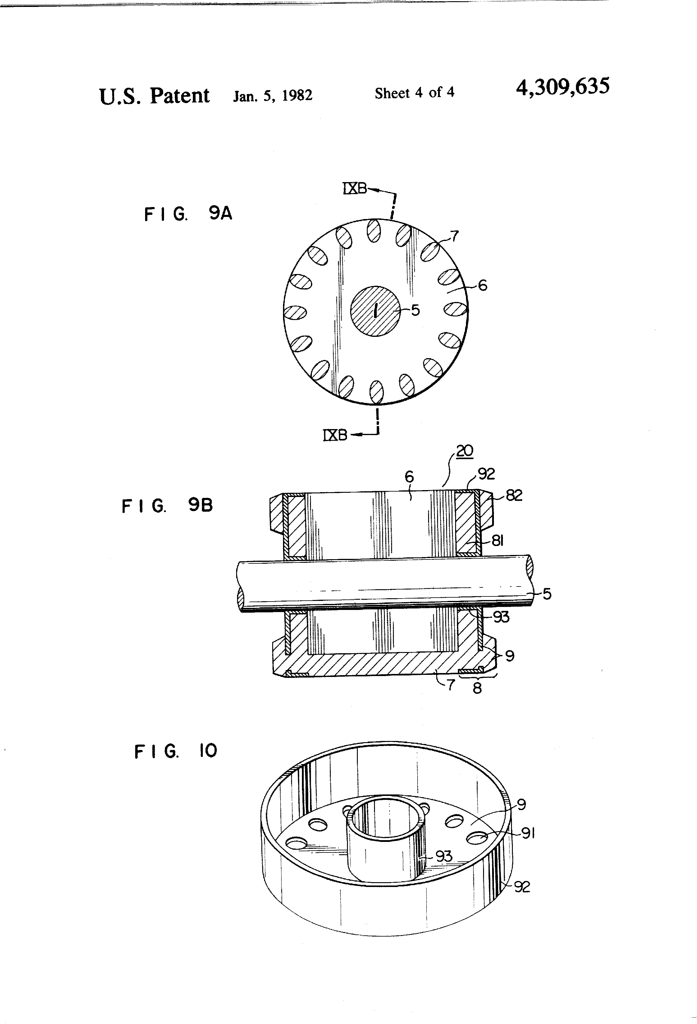 Patent Us4309635 Squirrel Cage Rotor Having End Rings Of Double Way The Motor Operates Induction With A Was Invented By Drawing