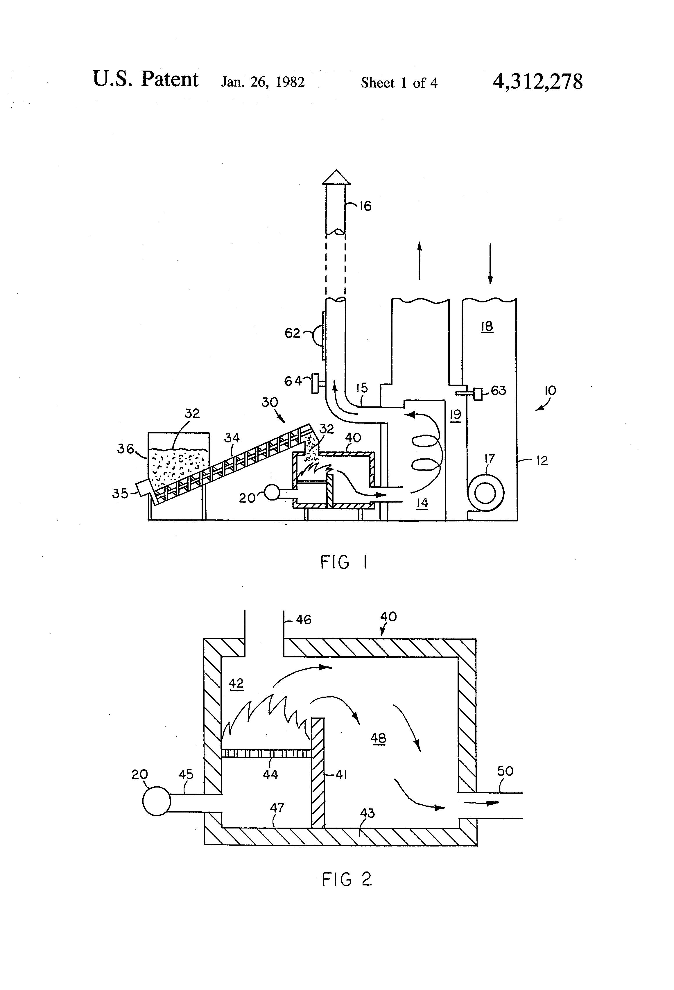 patent us4312278 - chip wood furnace and furnace retrofitting system