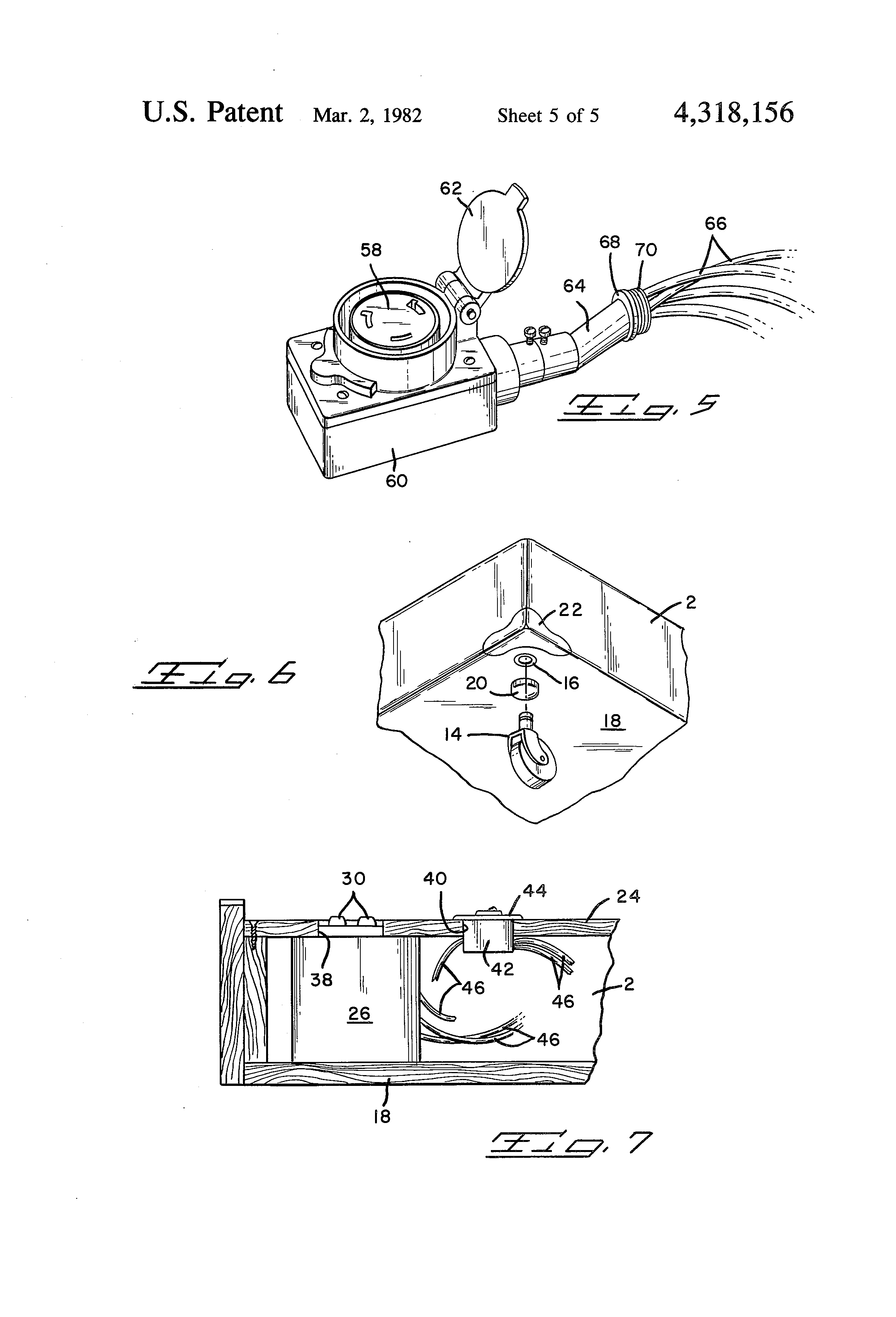 patent us4318156 - portable distribution box