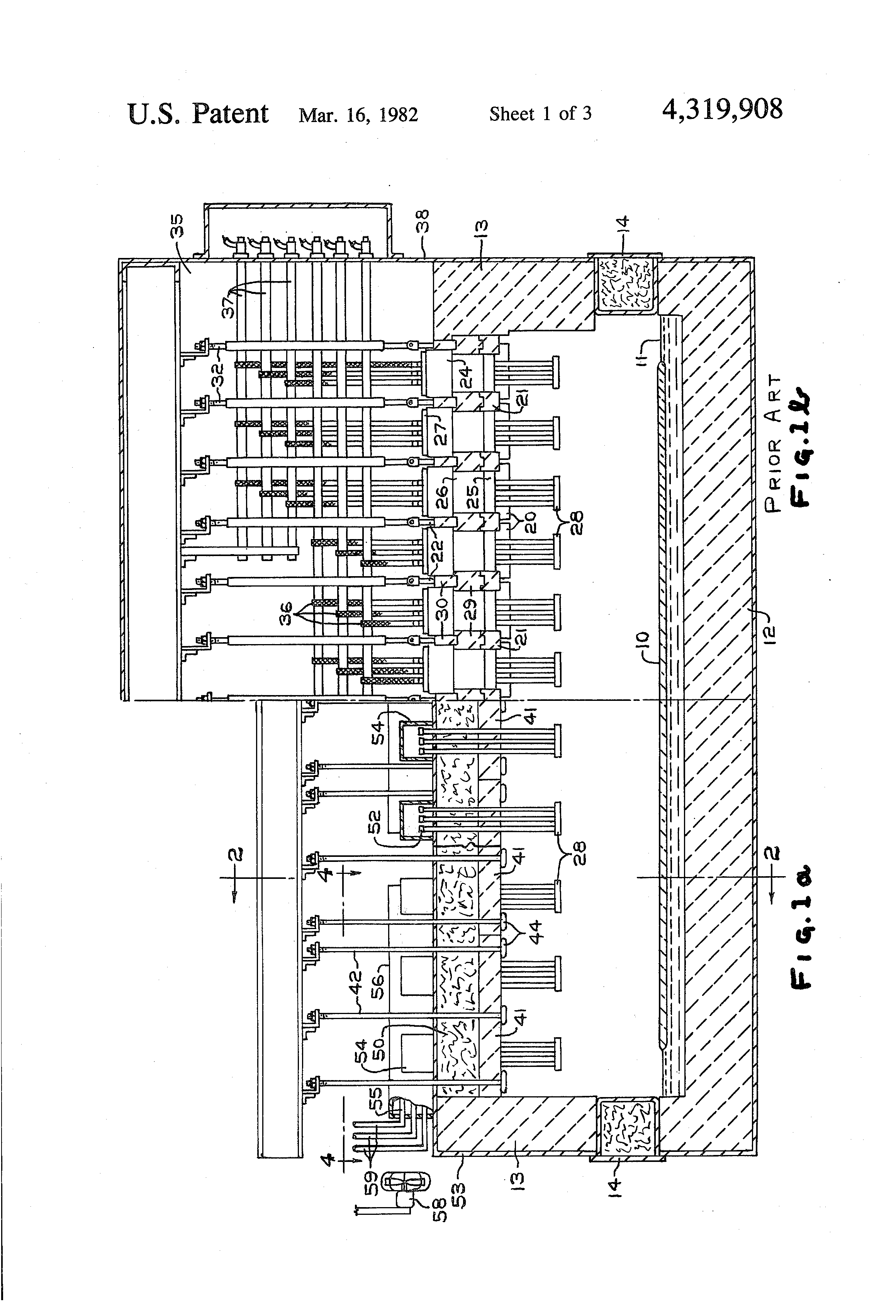 Patent Us4319908 Float Glass Forming Chamber With A Flat