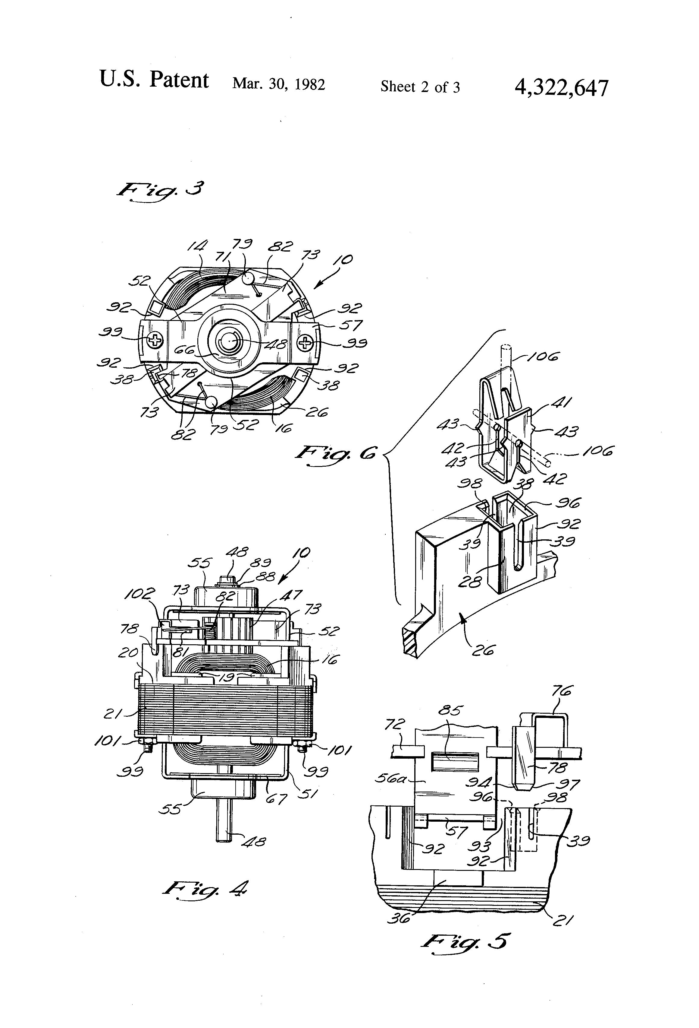brevet us4322647 - motor assembly