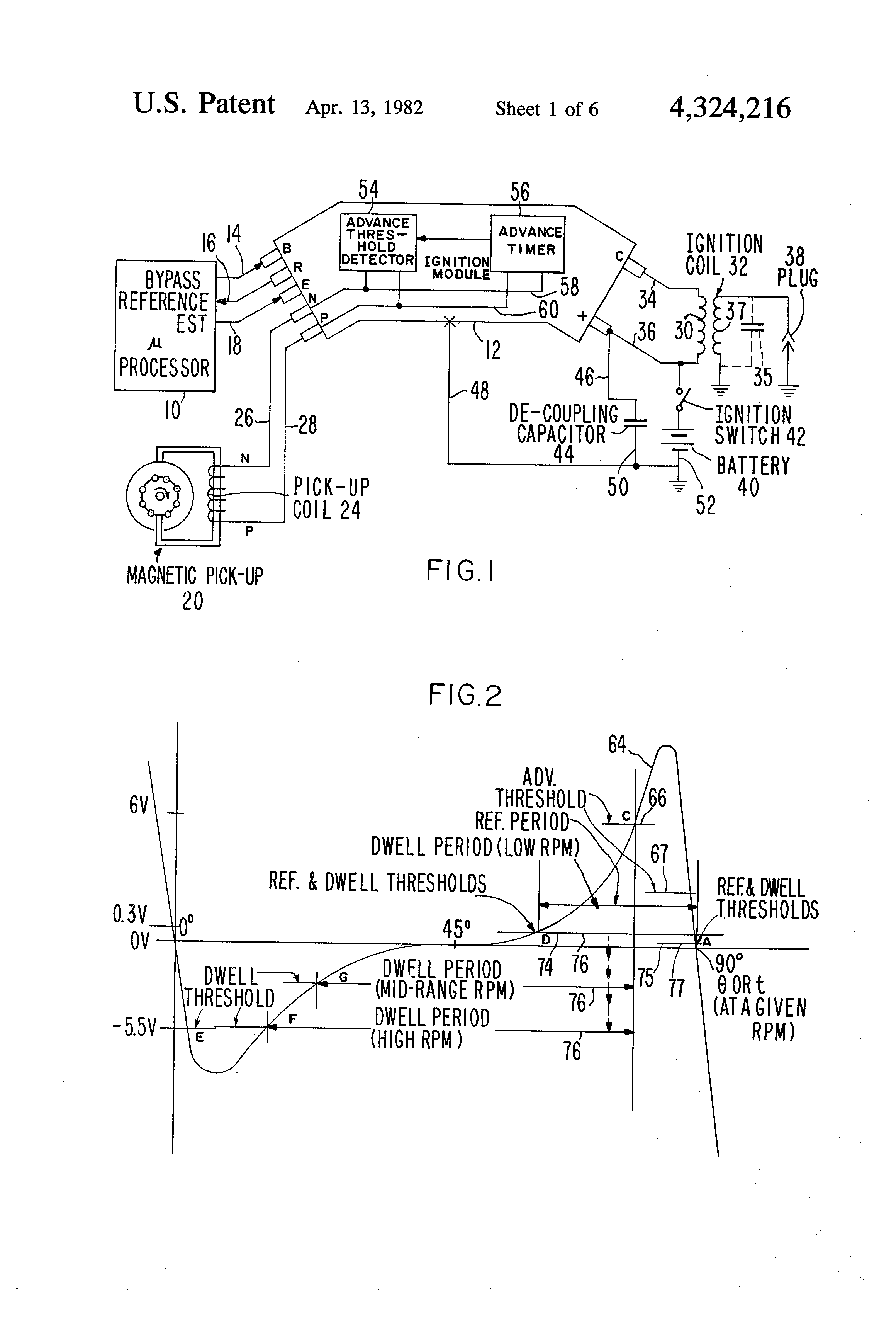 Patent US4324216 - Ignition control system with electronic