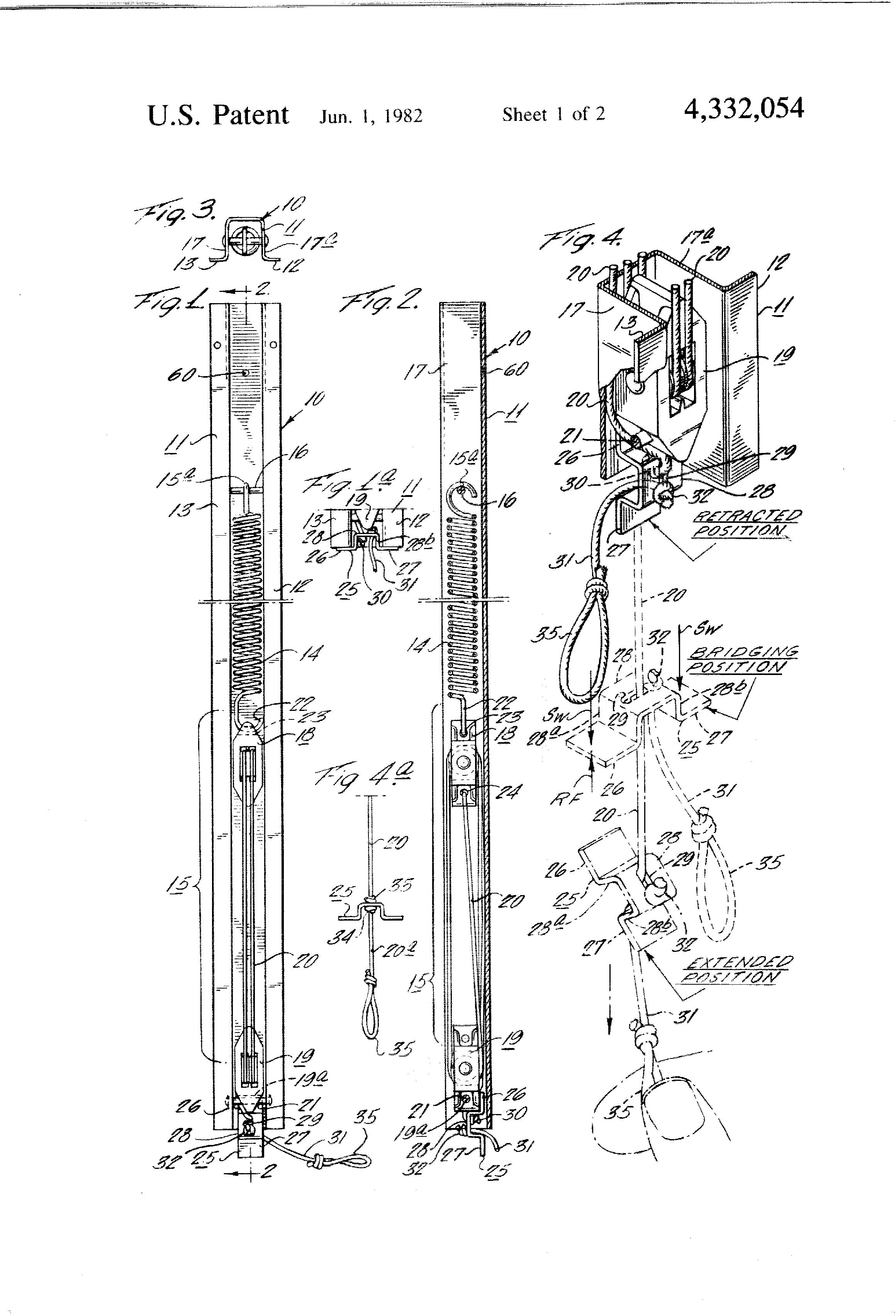 Patent Us4332054 Block And Tackle Window Sash Balance
