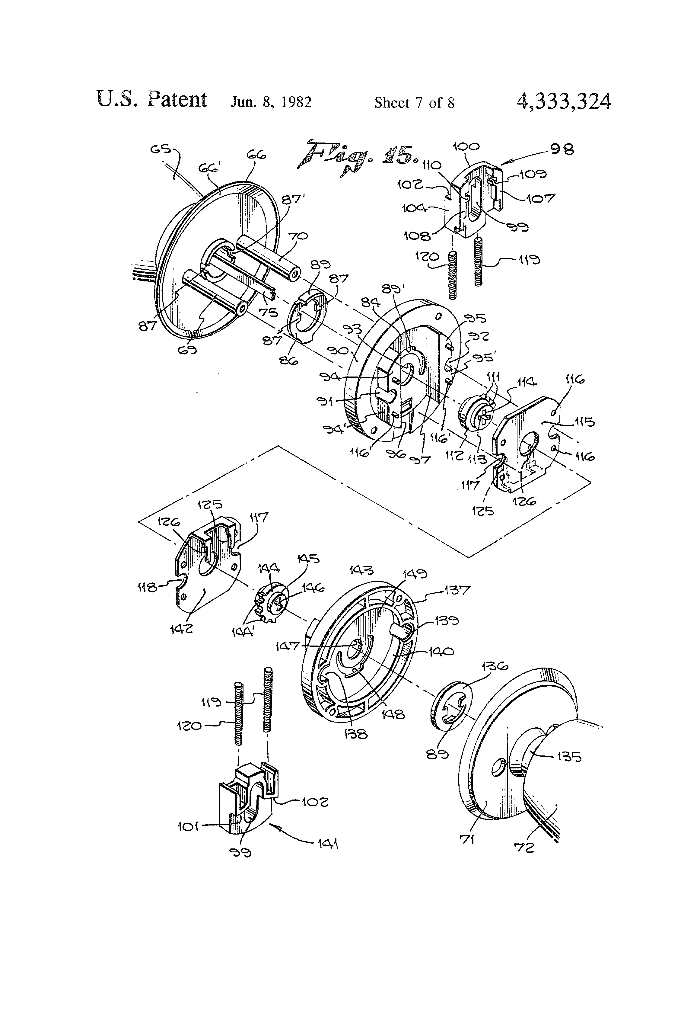 tooth movement diagram patent us4333324 spring dead bolt lock assembly google