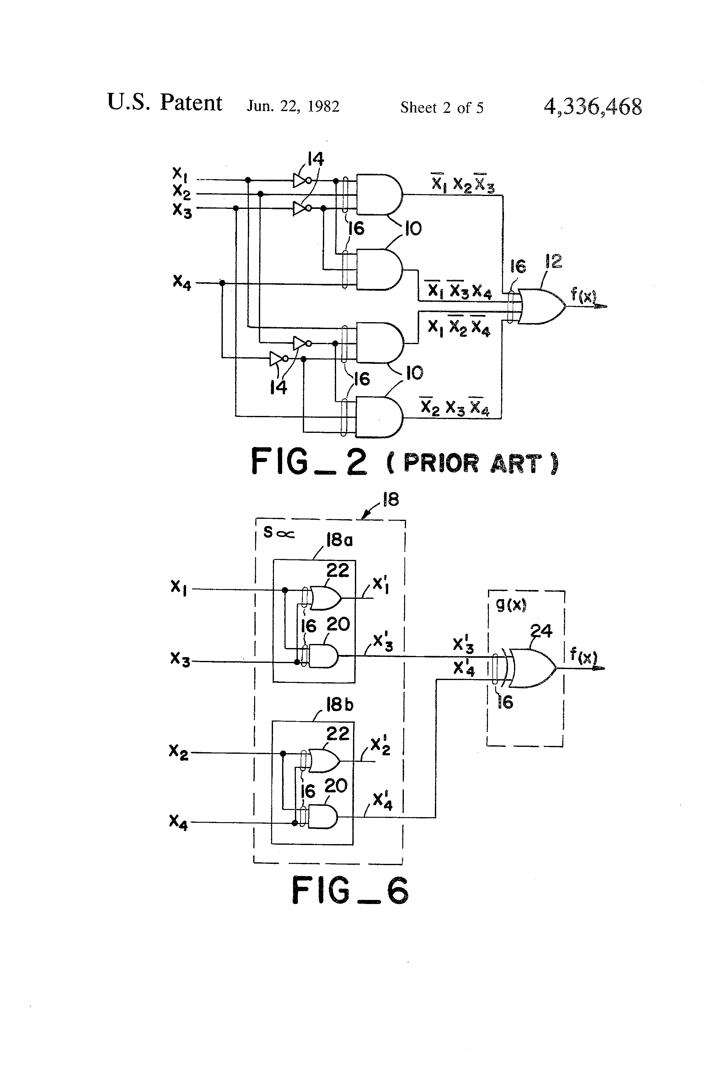 Patent Us4336468 Simplified Combinational Logic Circuits And Diagrams Of Gates Photos Circuit On Using Drawing