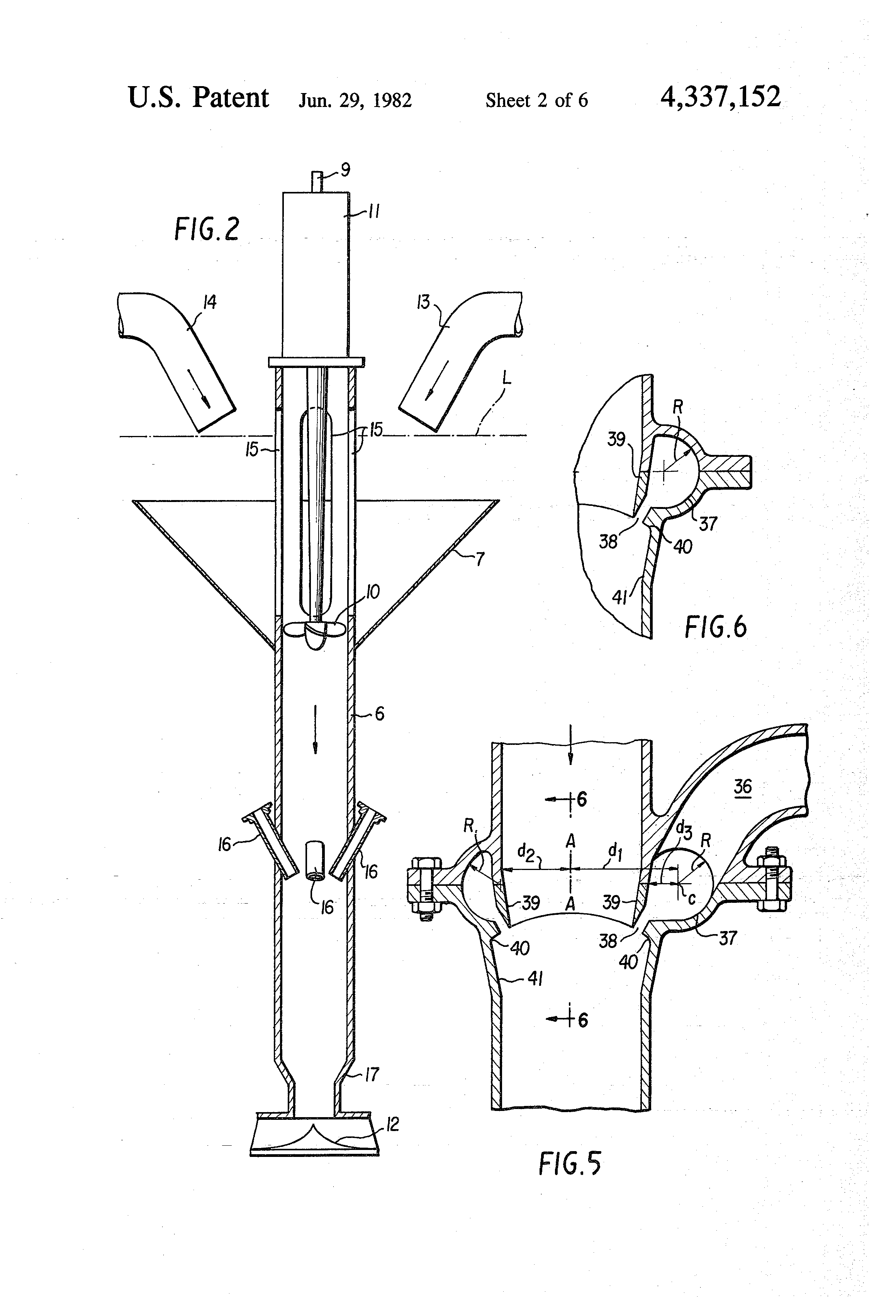 patent us4337152 - aeration apparatus and method