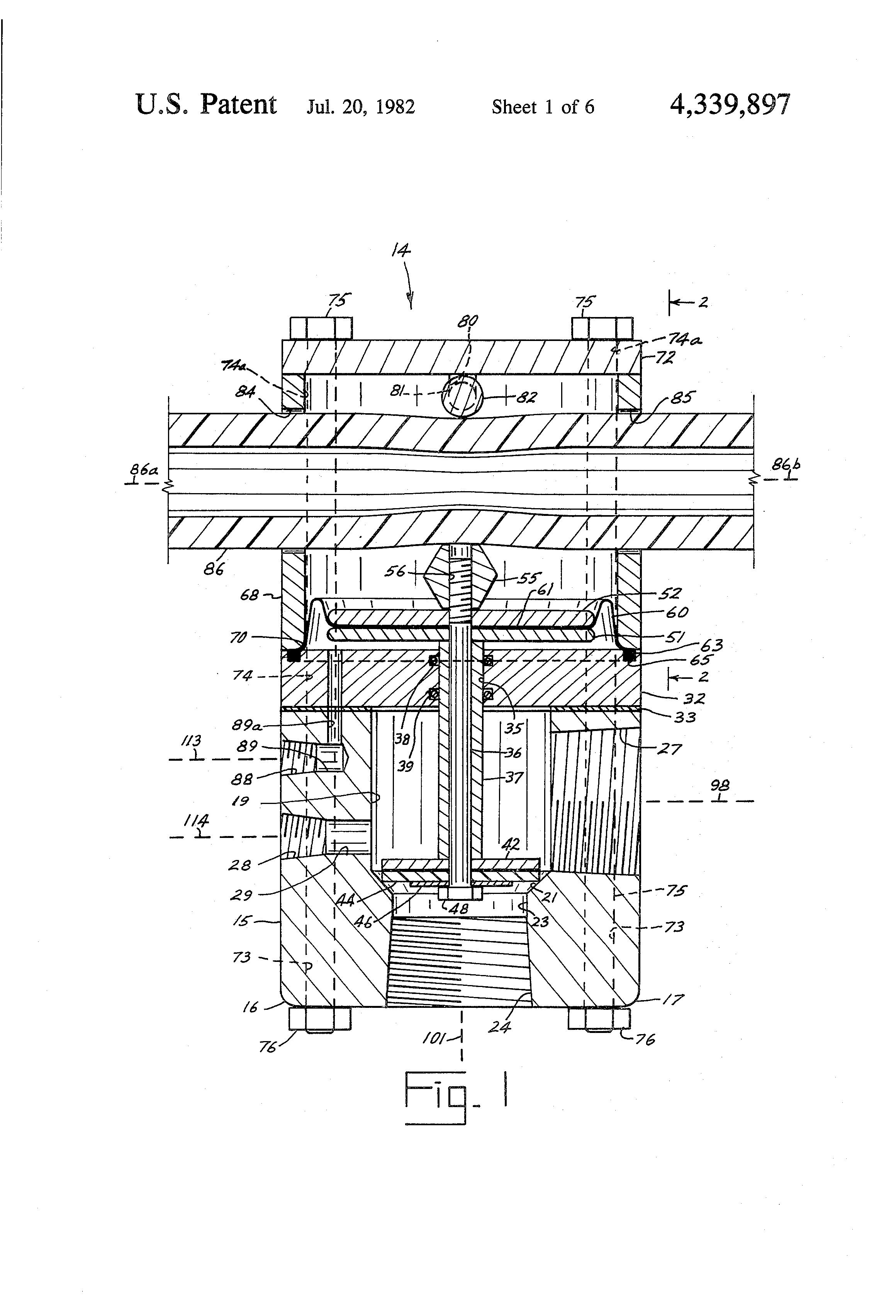 brevet us4339897 sandblasting methods and apparatus brevets Old Blasting Machines patent drawing