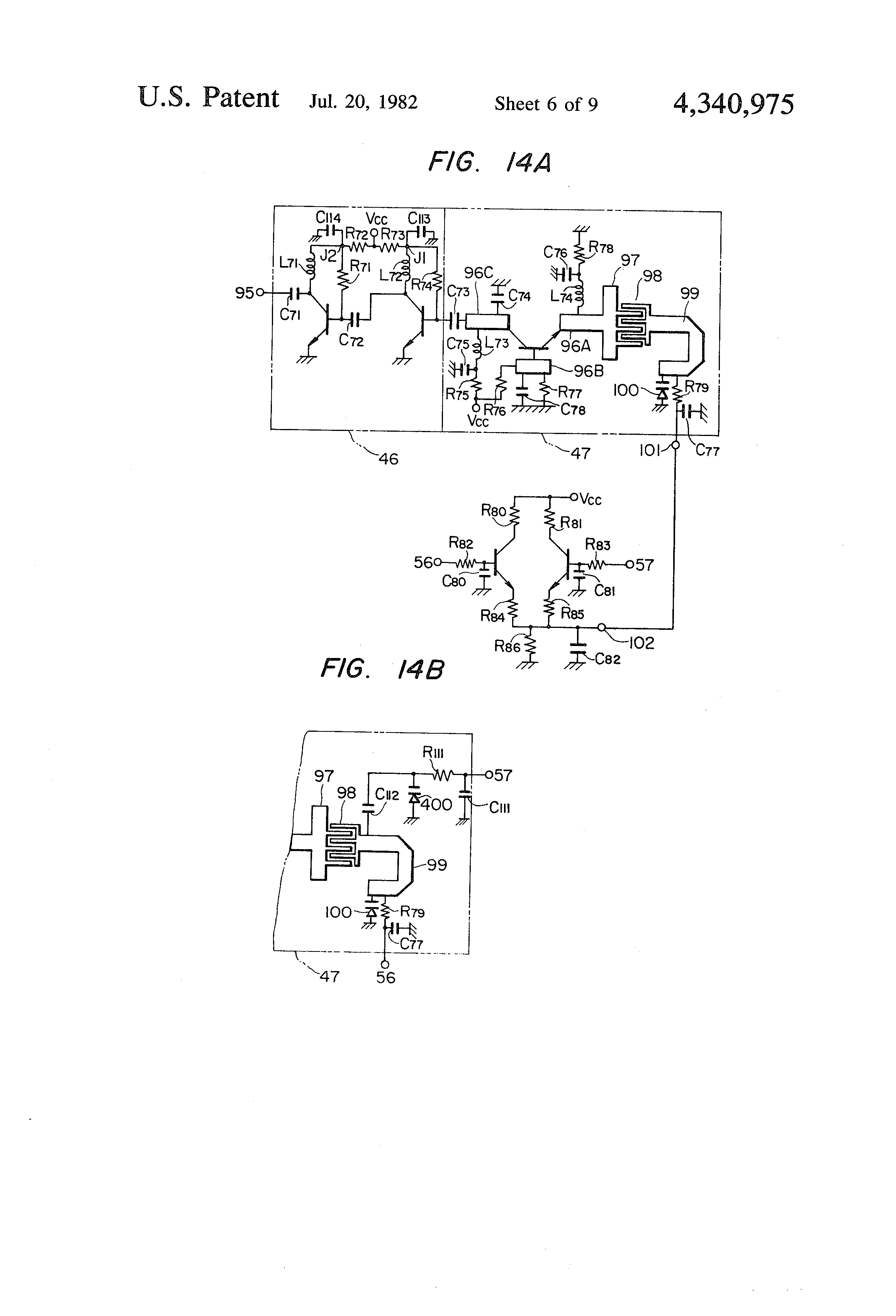 Patent Us4340975 Microwave Mixing Circuit And A Vhf Uhf Tuner Block Diagram Of An Analogue Tv Receiver Drawing