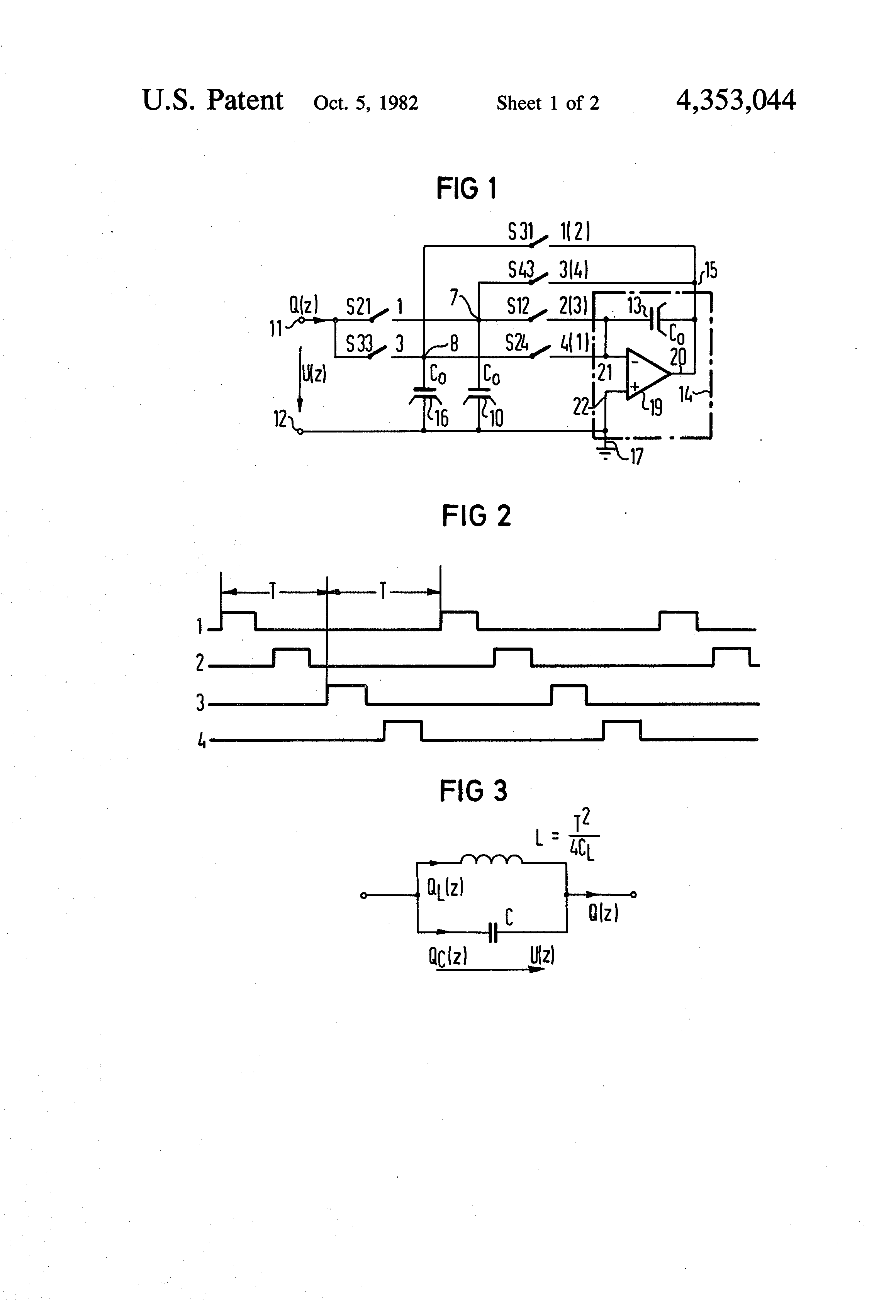 Patent Us4353044 Switched Capacitor Filter Circuit Having At Least Drawing
