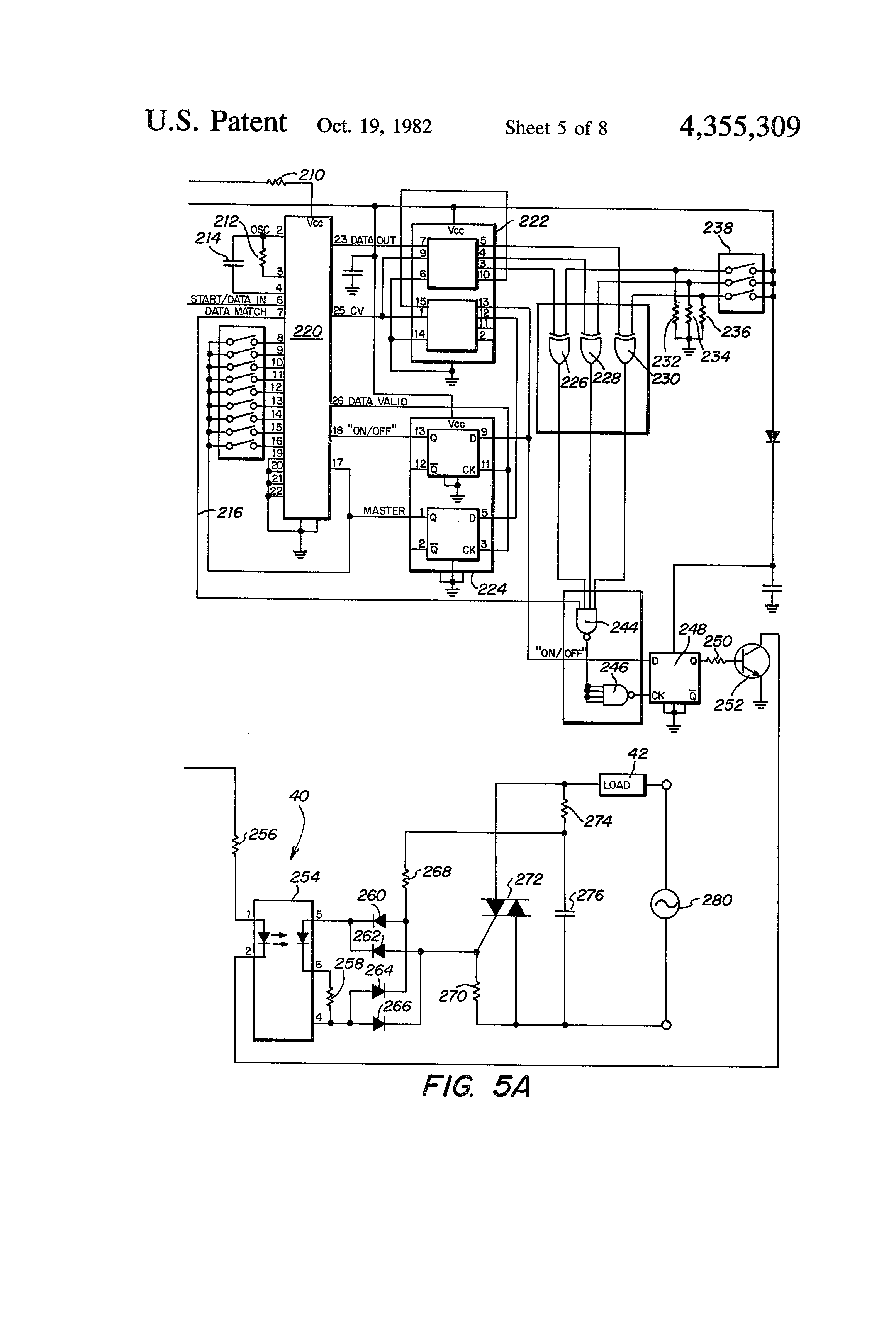 Patent Us4355309 Radio Frequency Controlled Light System