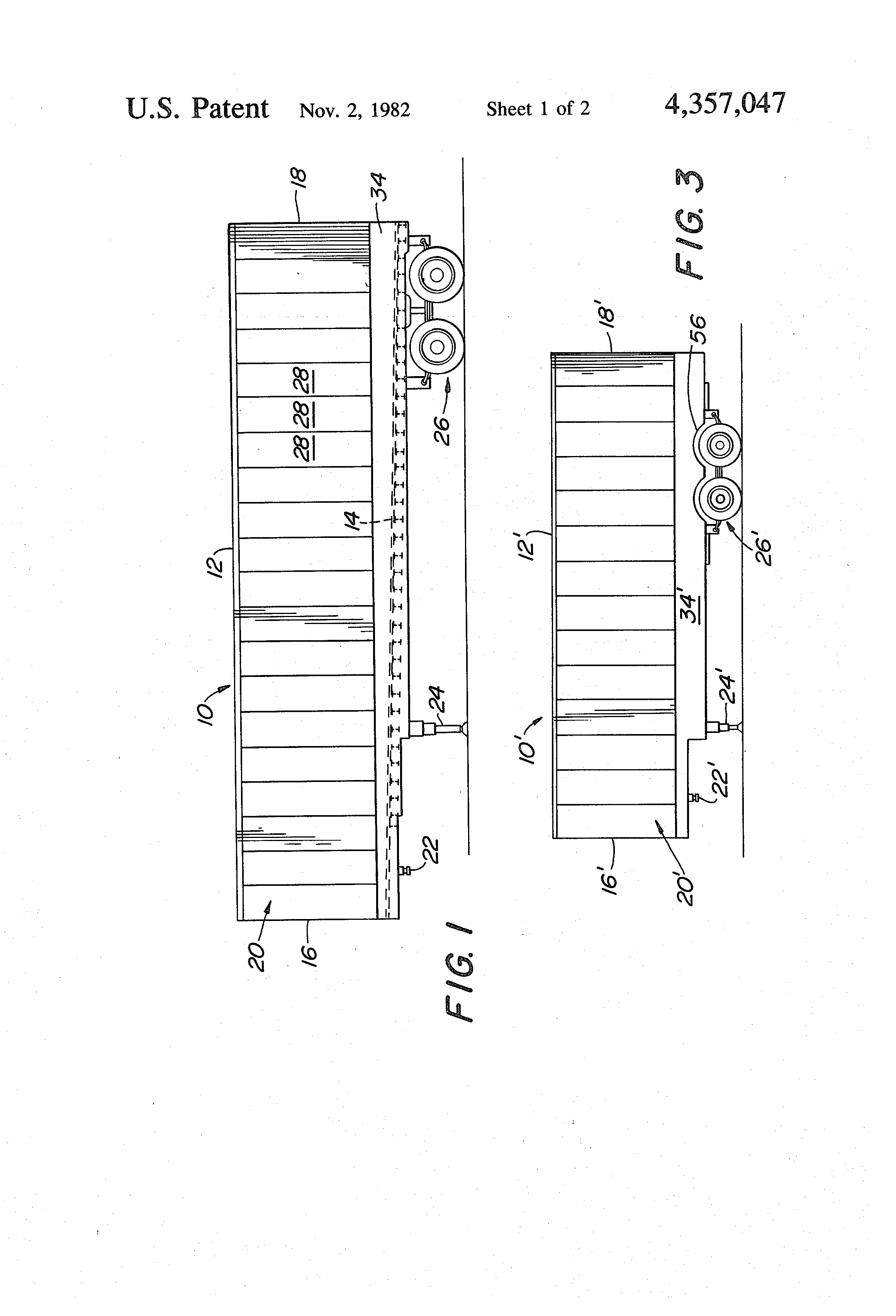 patent us trailer unitary bottom rail scuff plate patent drawing
