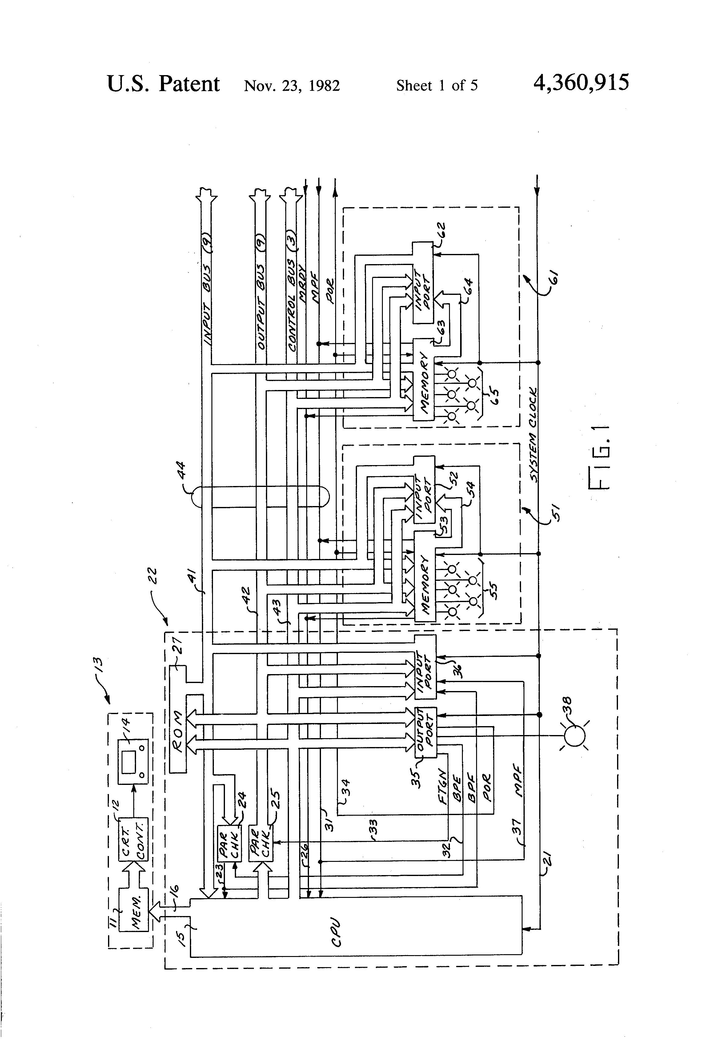 Patent Us4360915 Error Detection Means Google Patentsuche 9 Bit Parity Generator Logic Diagram Drawing