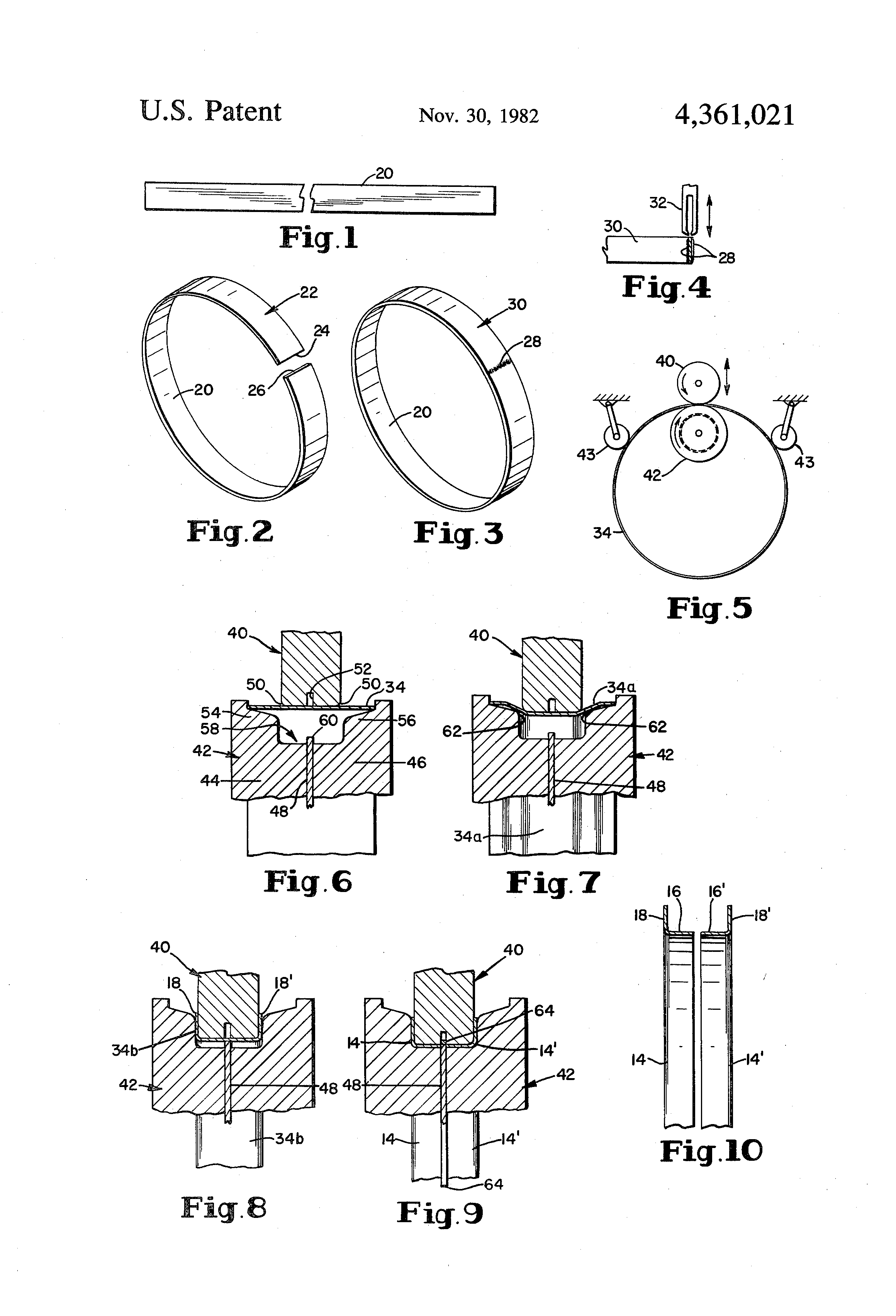 Patent US4361021 - Method and apparatus for forming angle ring