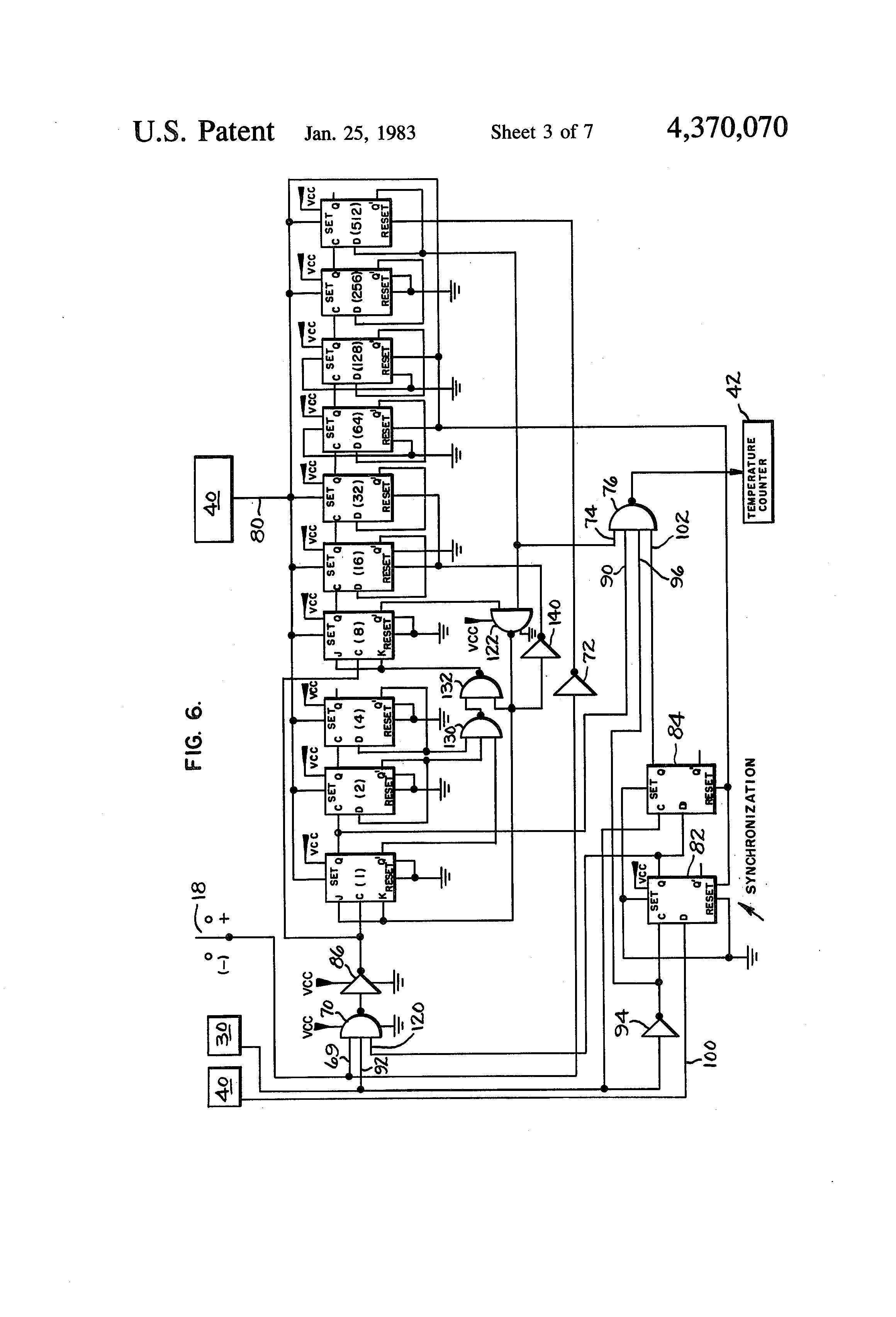 Patent Us4370070 Digital Thermometer Having Fahrenheit And Celsius Figure 1 Representative Circuit For A Capacitorcharging Drawing