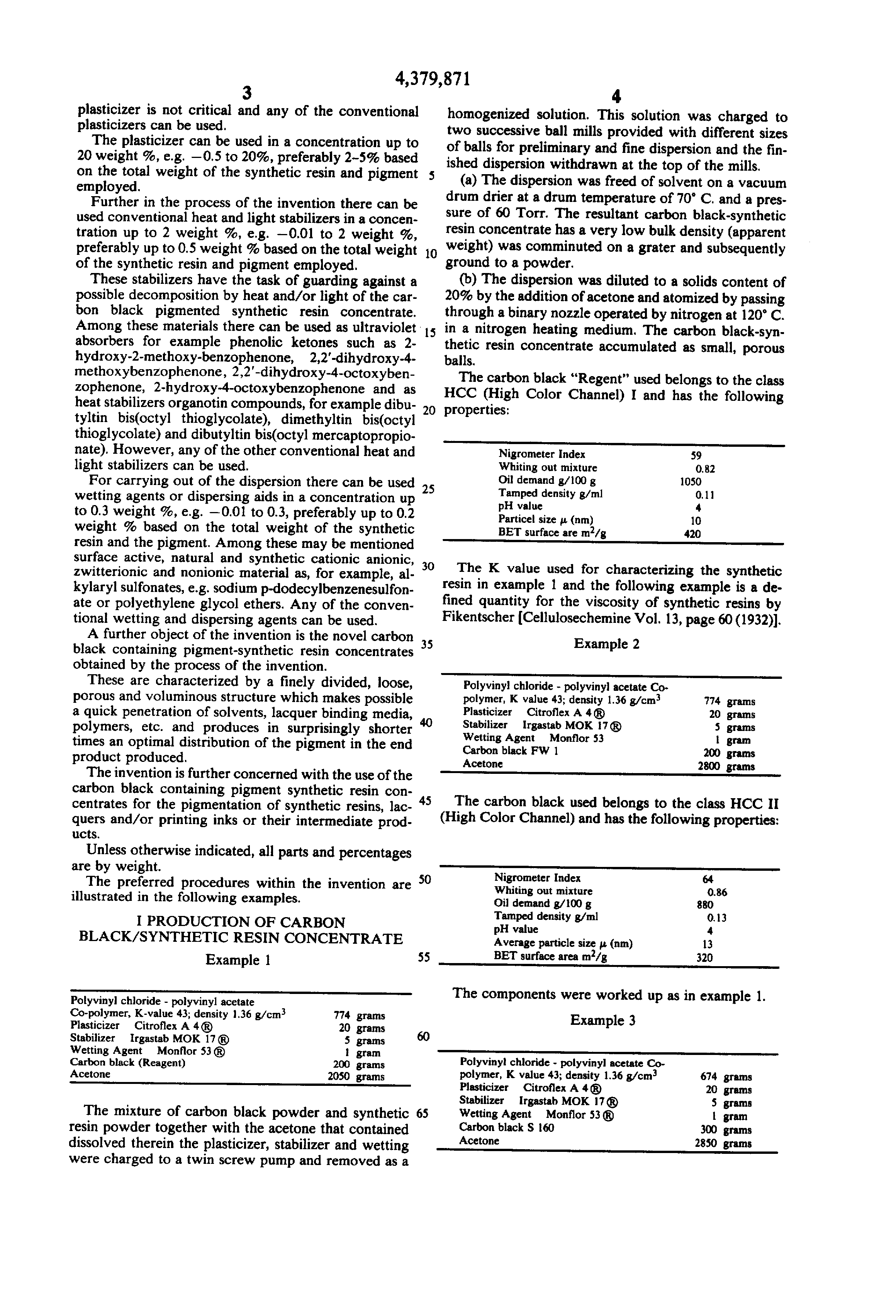 Patent US4379871 - Process for the production of carbon black