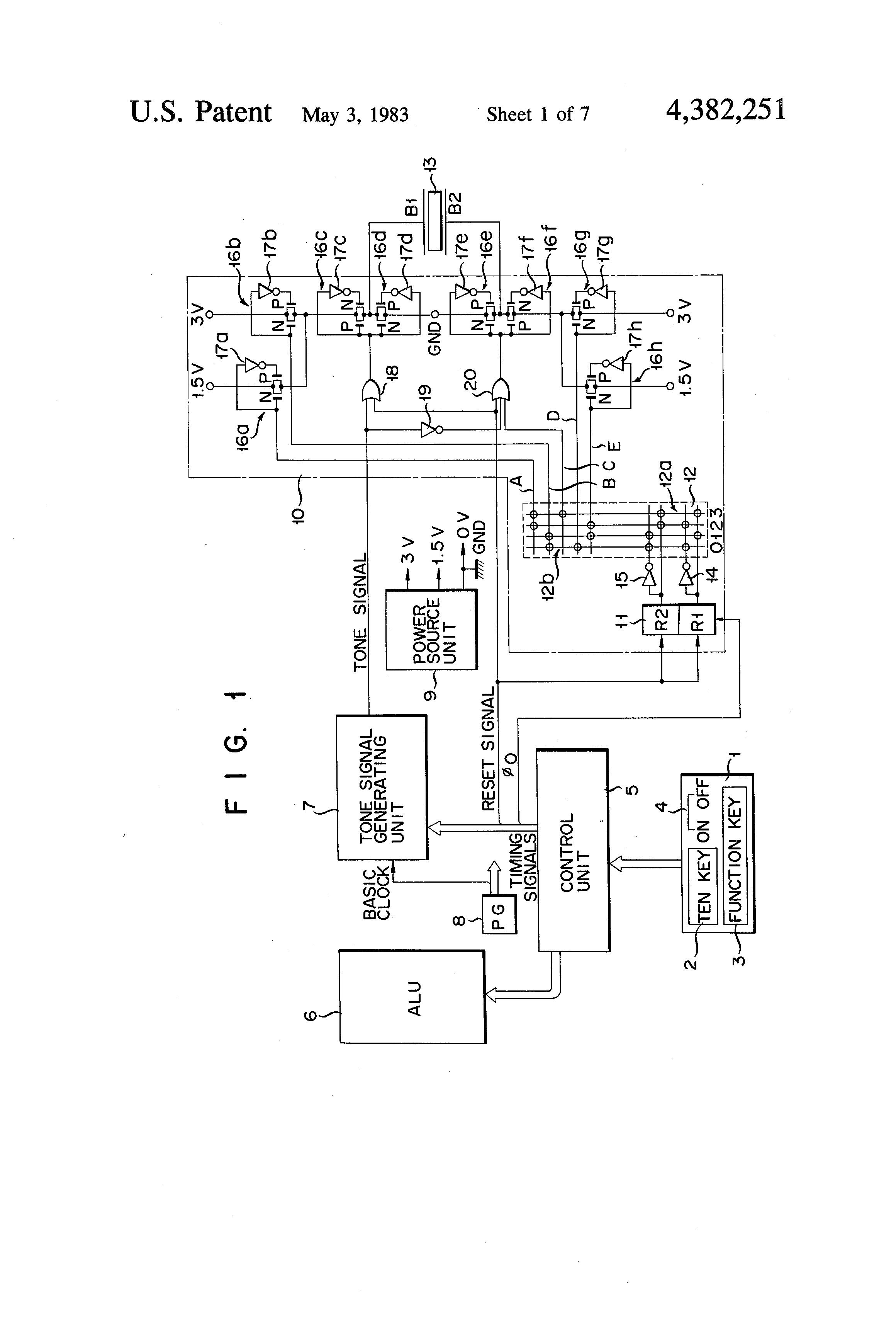 Us4382251 Envelope Control Device For Piezoelectric Piezo Buzzer Driver Circuit Diagram Patent Drawing