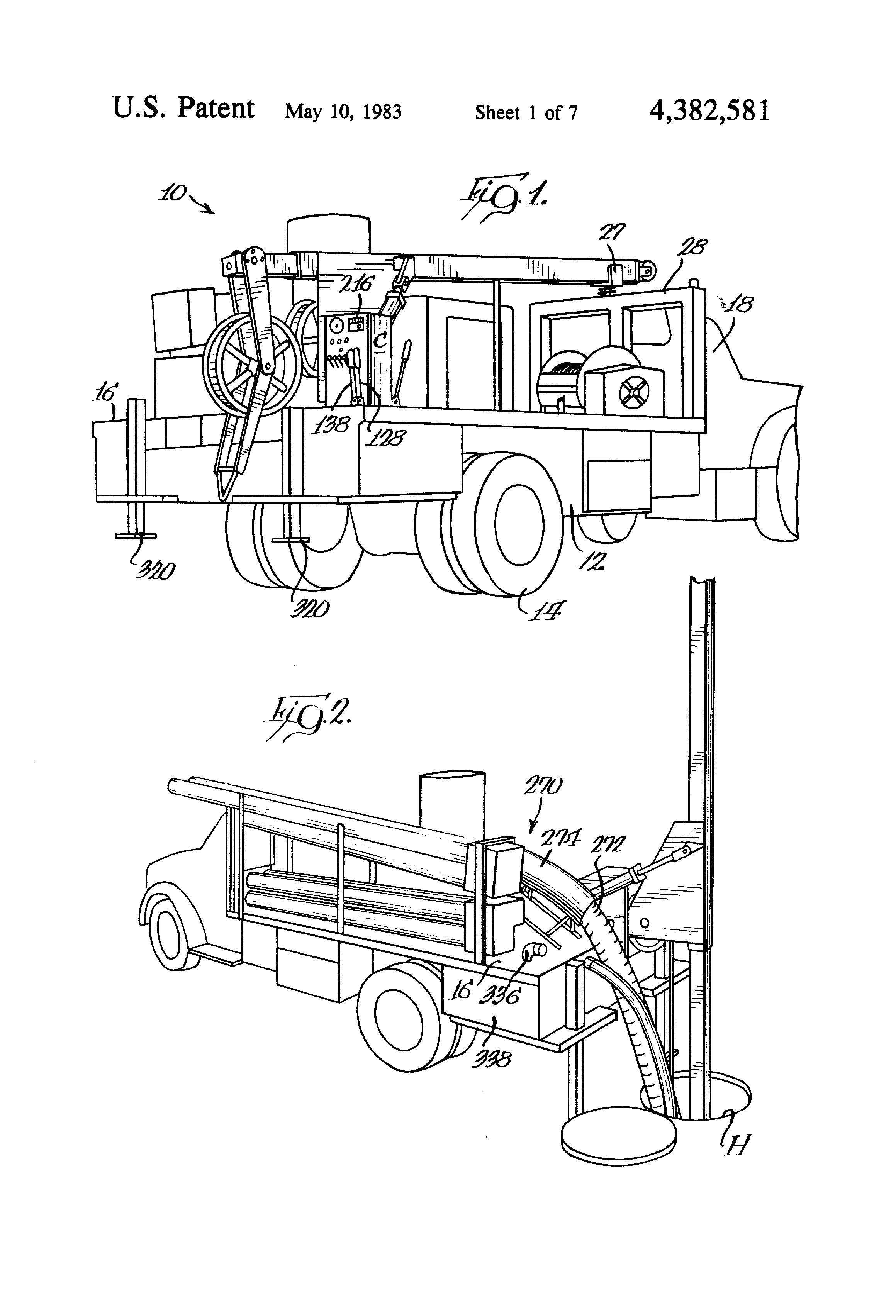 patent us4382581 - apparatus for pulling cable through underground conduit