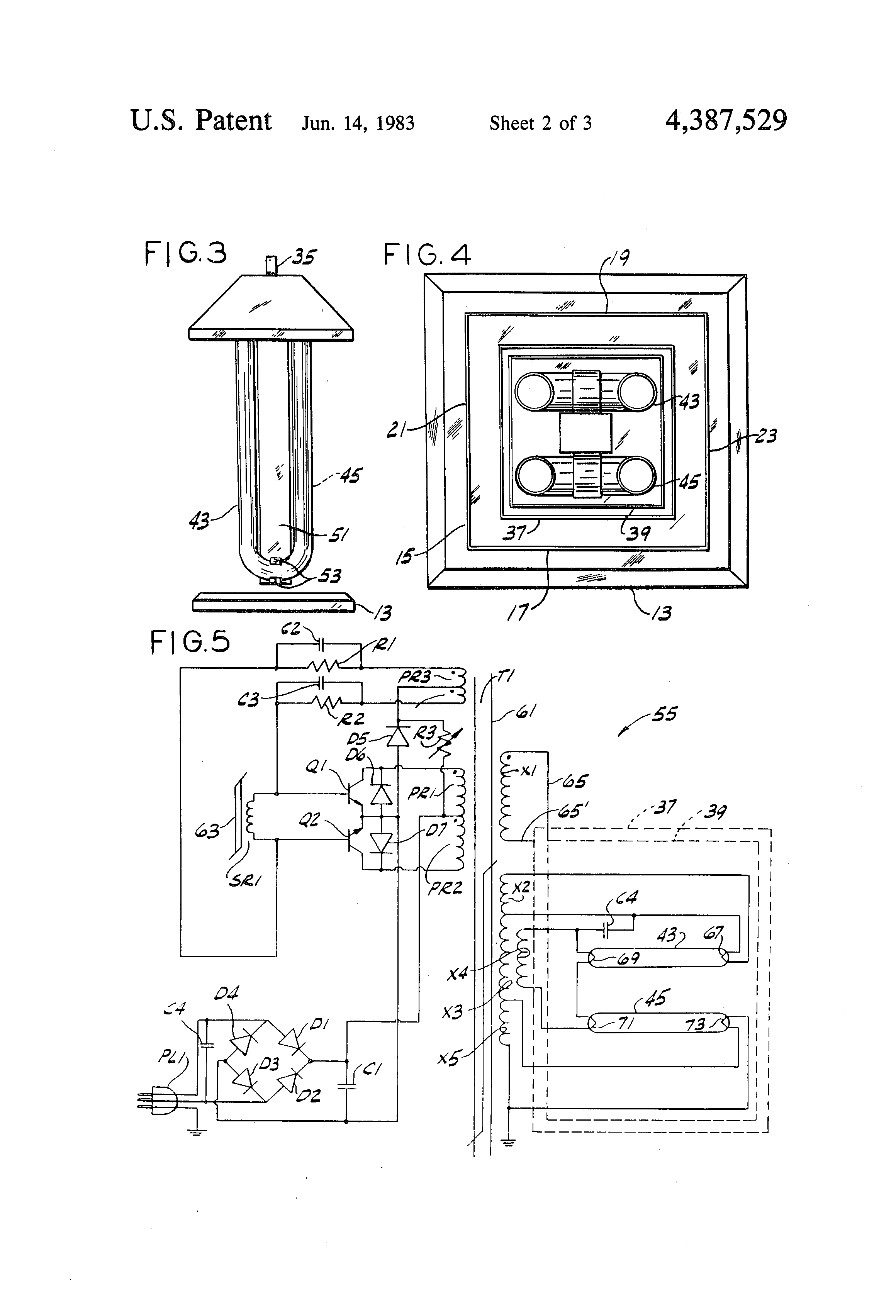 patent us4387529 - electronic insect killer