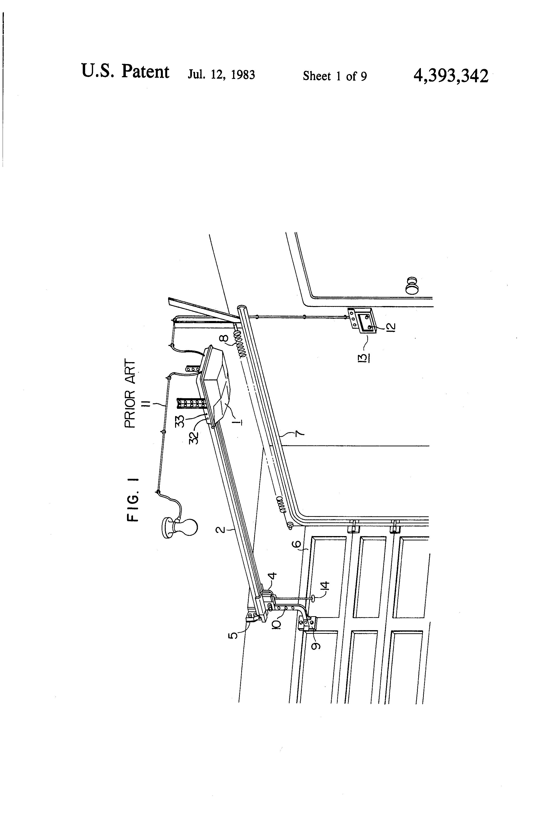 Patent Us4393342 Door Operation Control Apparatus