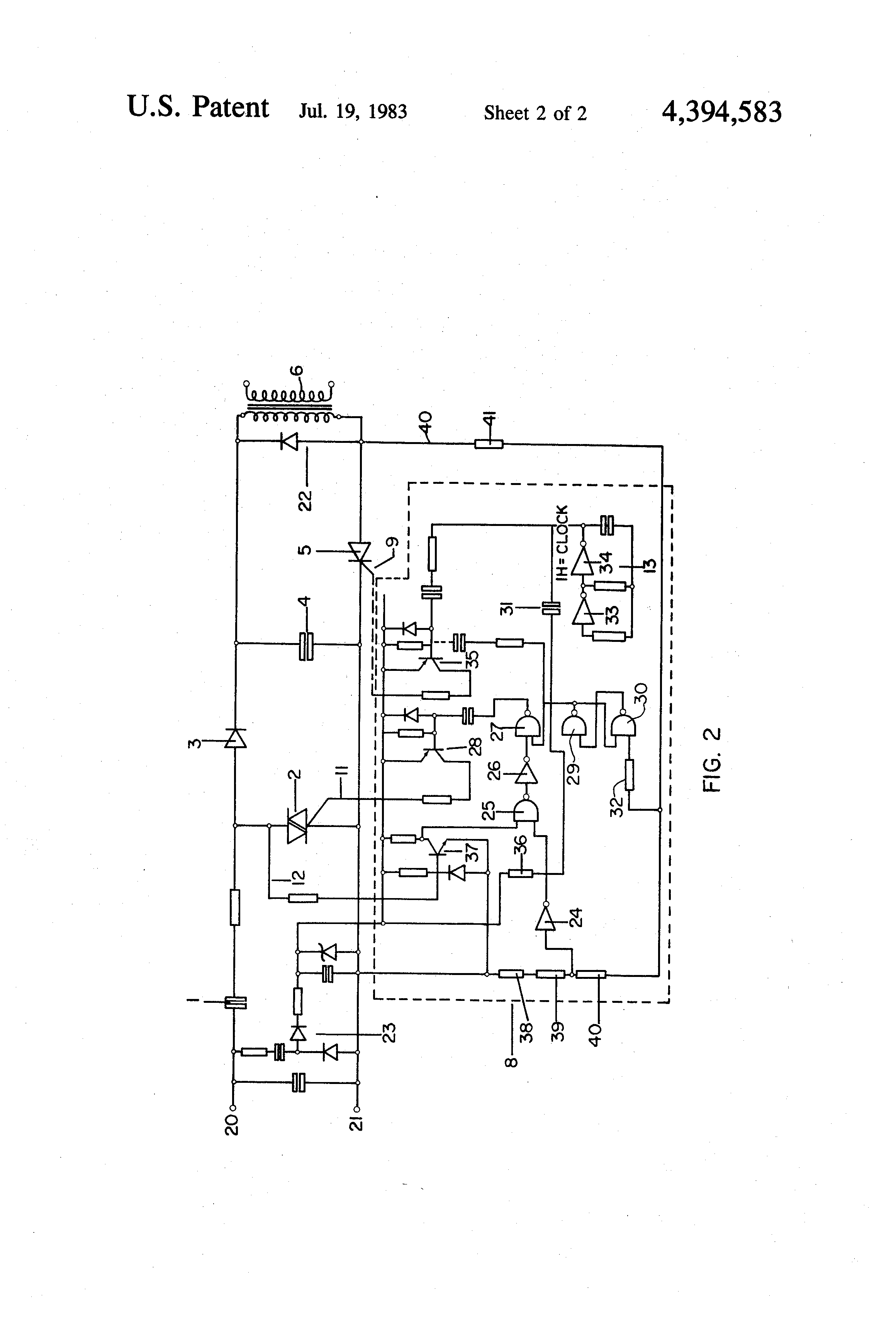 patent us4394583 - electric fence energizers