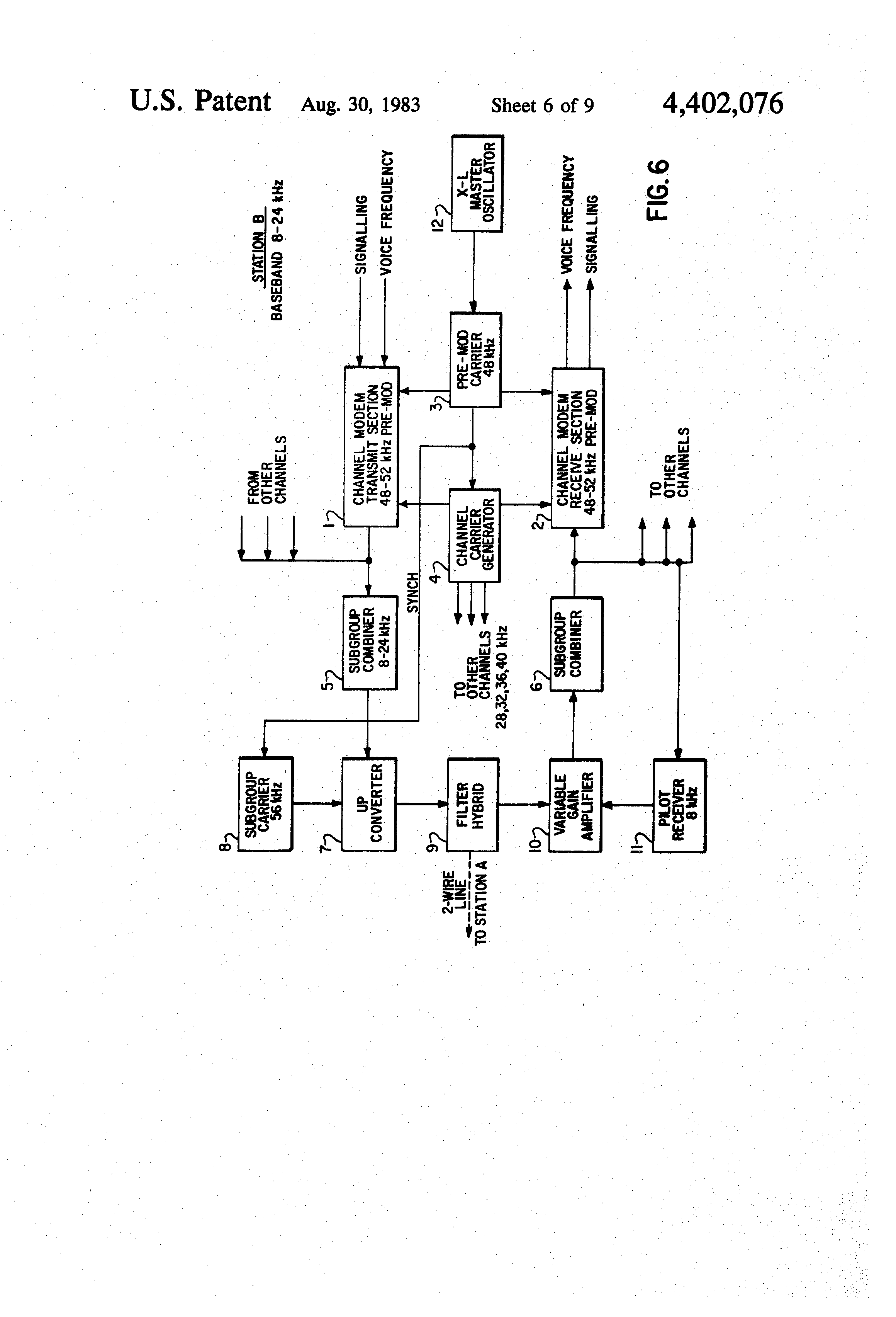 patent us4402076 - two wire f d  multiplex system