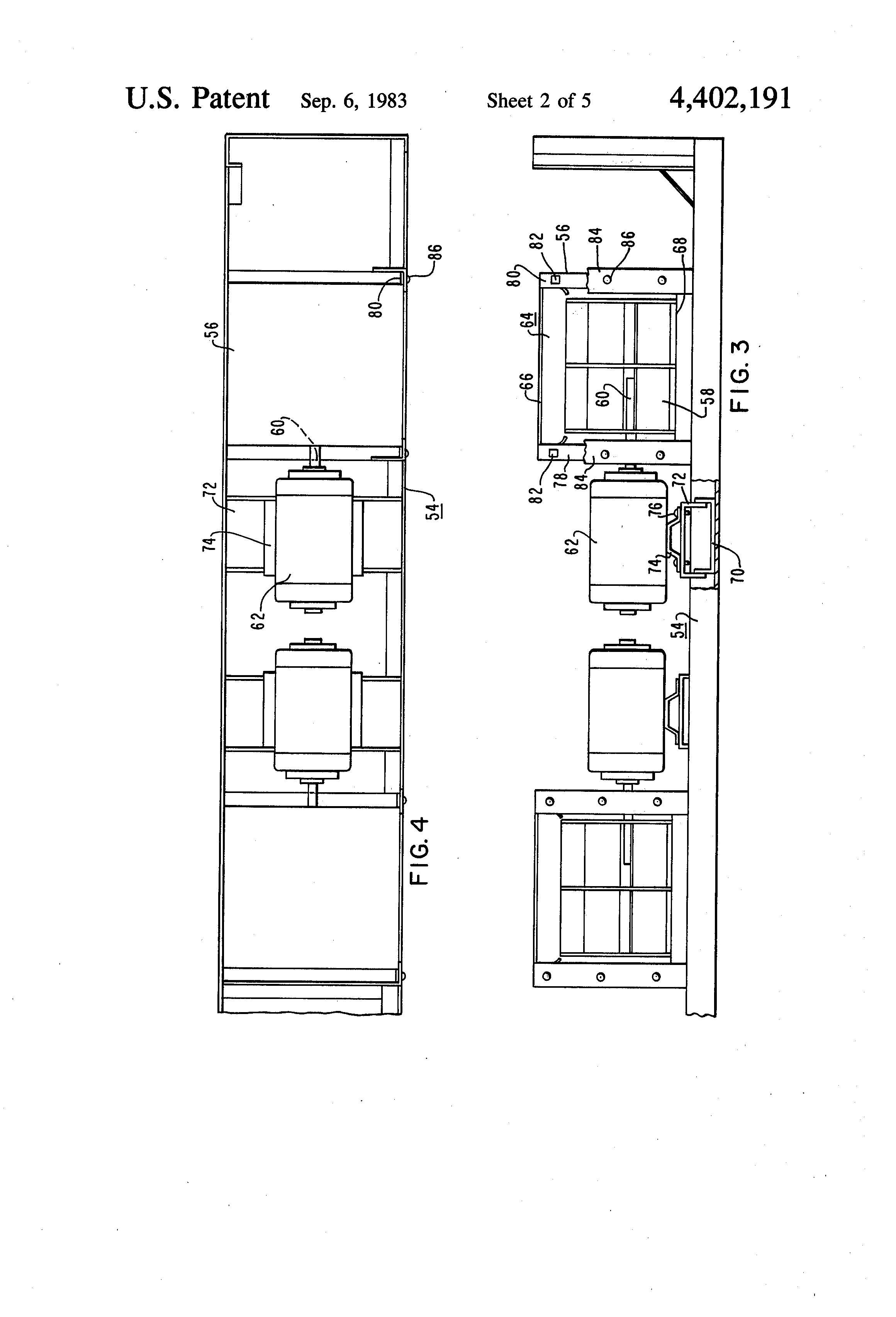 patent us4402191 - evaporator section for container refrigeration unit