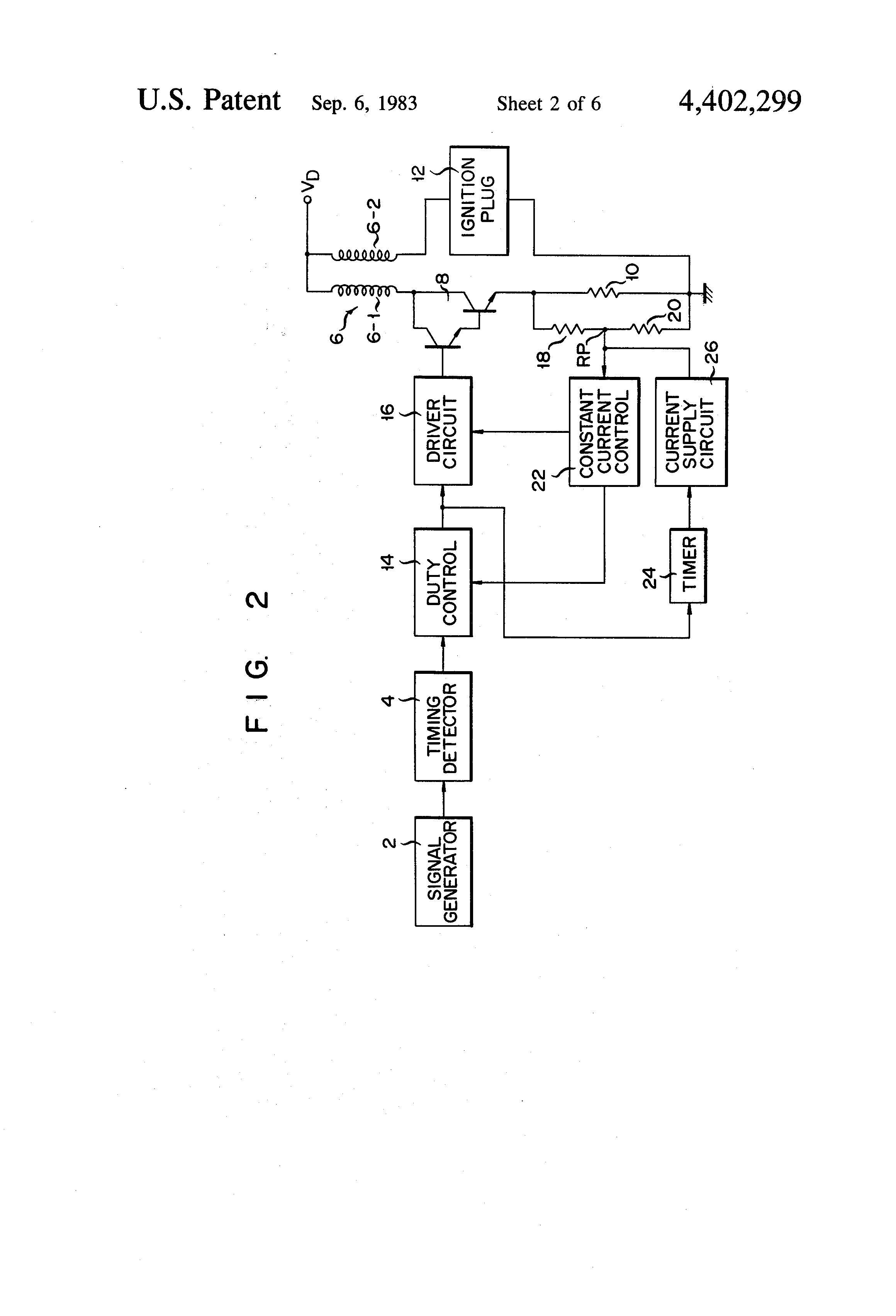 Patent Us4402299 Ignition Coil Energizing Circuit Google Patenten Nippondenso Car Wiring Diagram Drawing