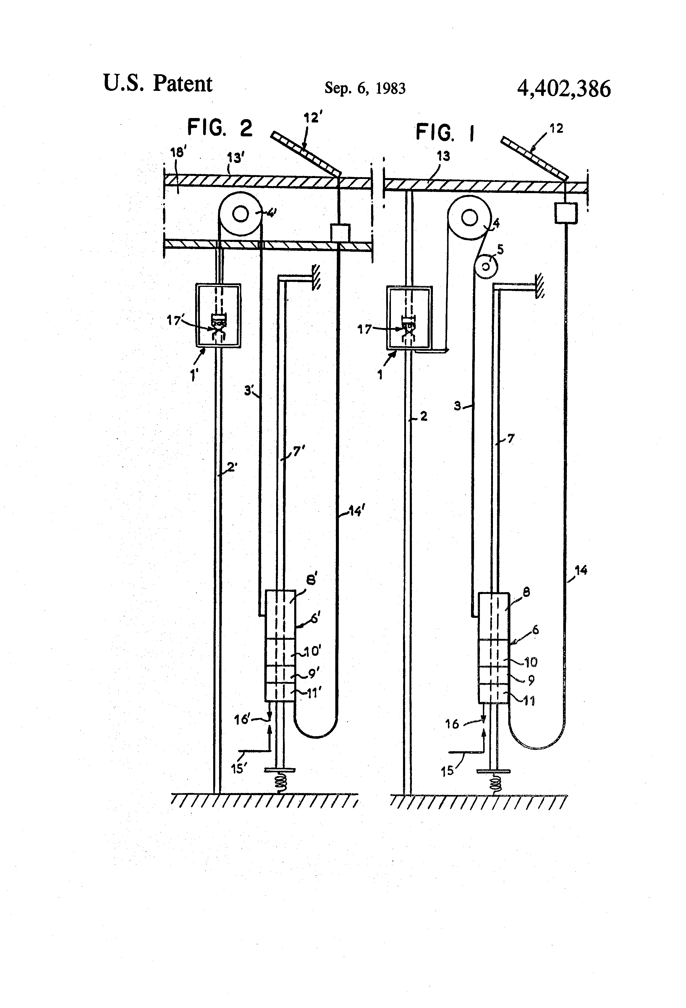 Patent Us4402386 Self Powered Elevator Using A Linear