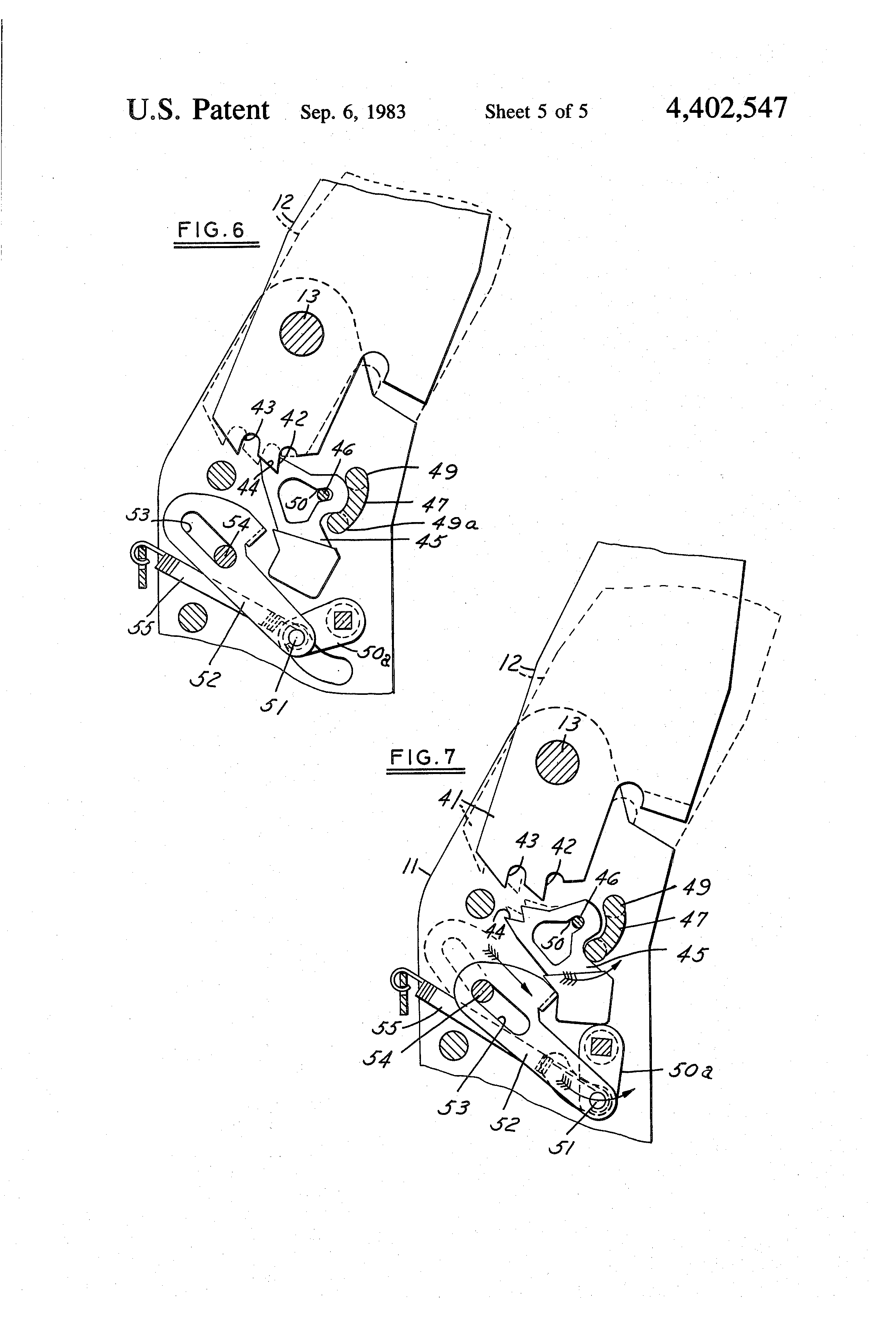 Patent Us4402547 Power Recliner With Inertia Latch