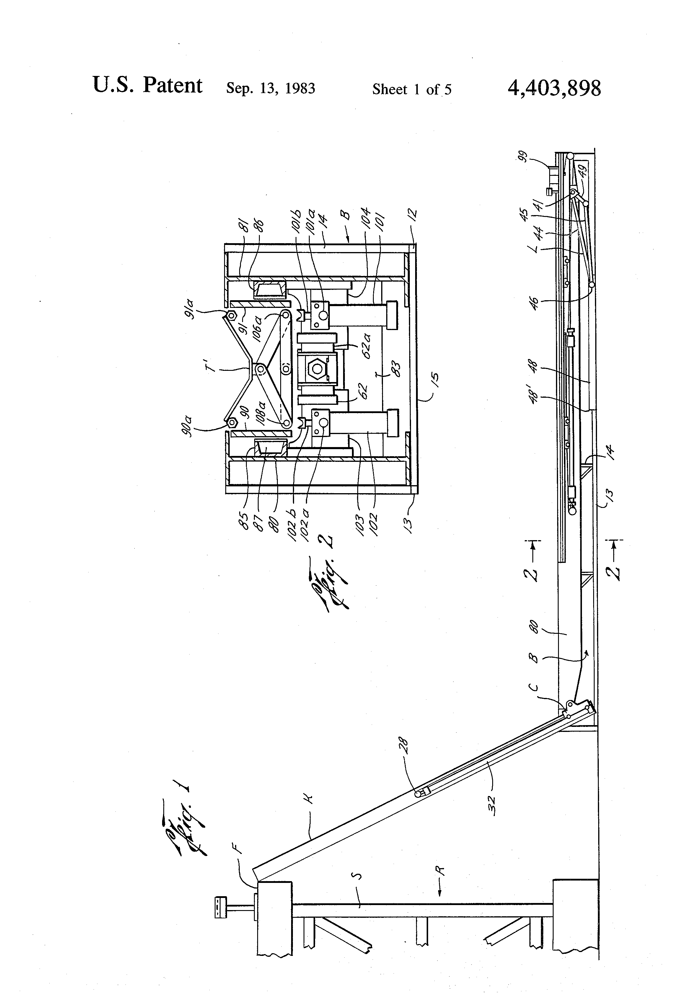 Rig Floor Elevation : Patent us pipe pick up and laydown machine