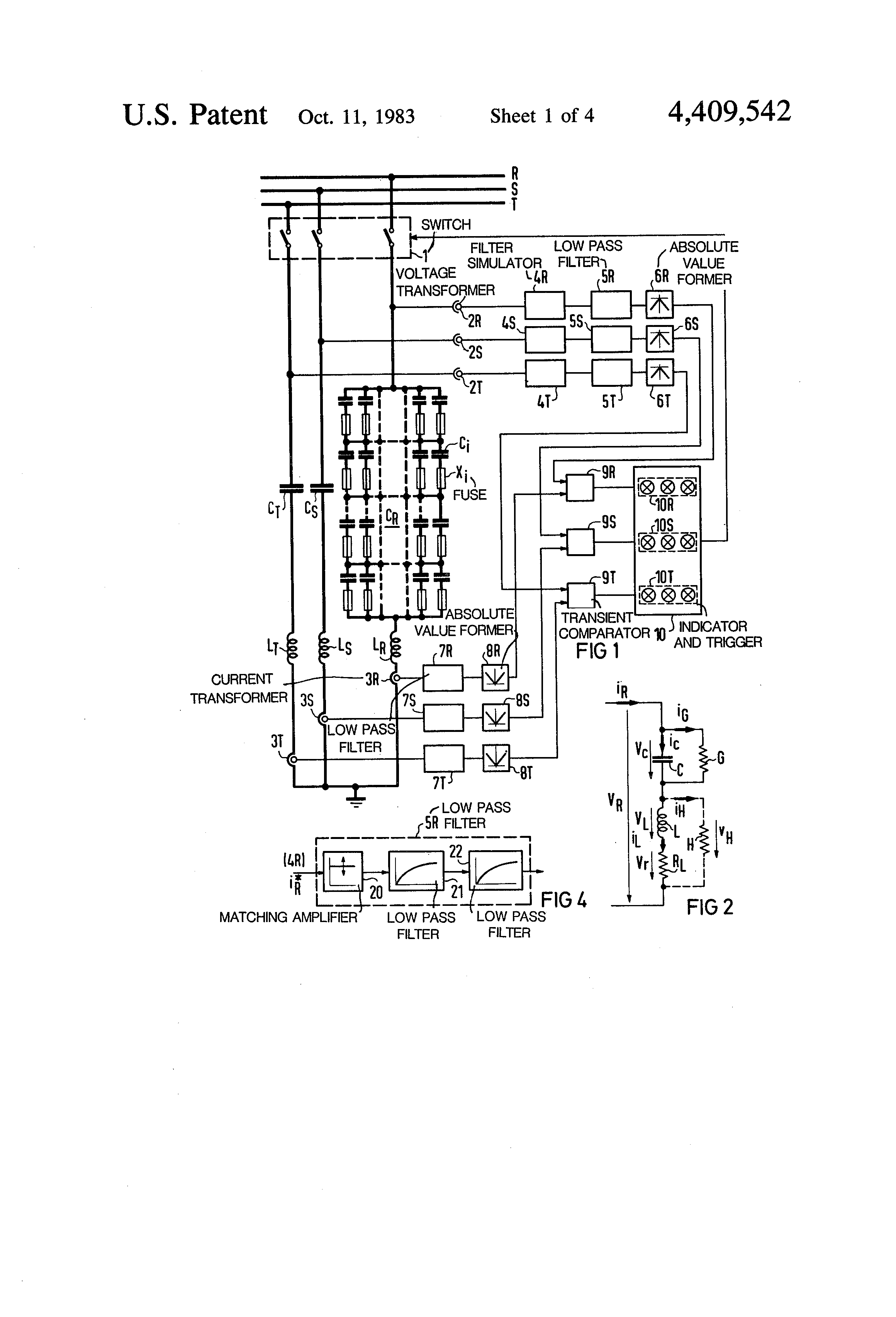 patent us4409542 - monitoring system for an lc filter circuit in an ac power network