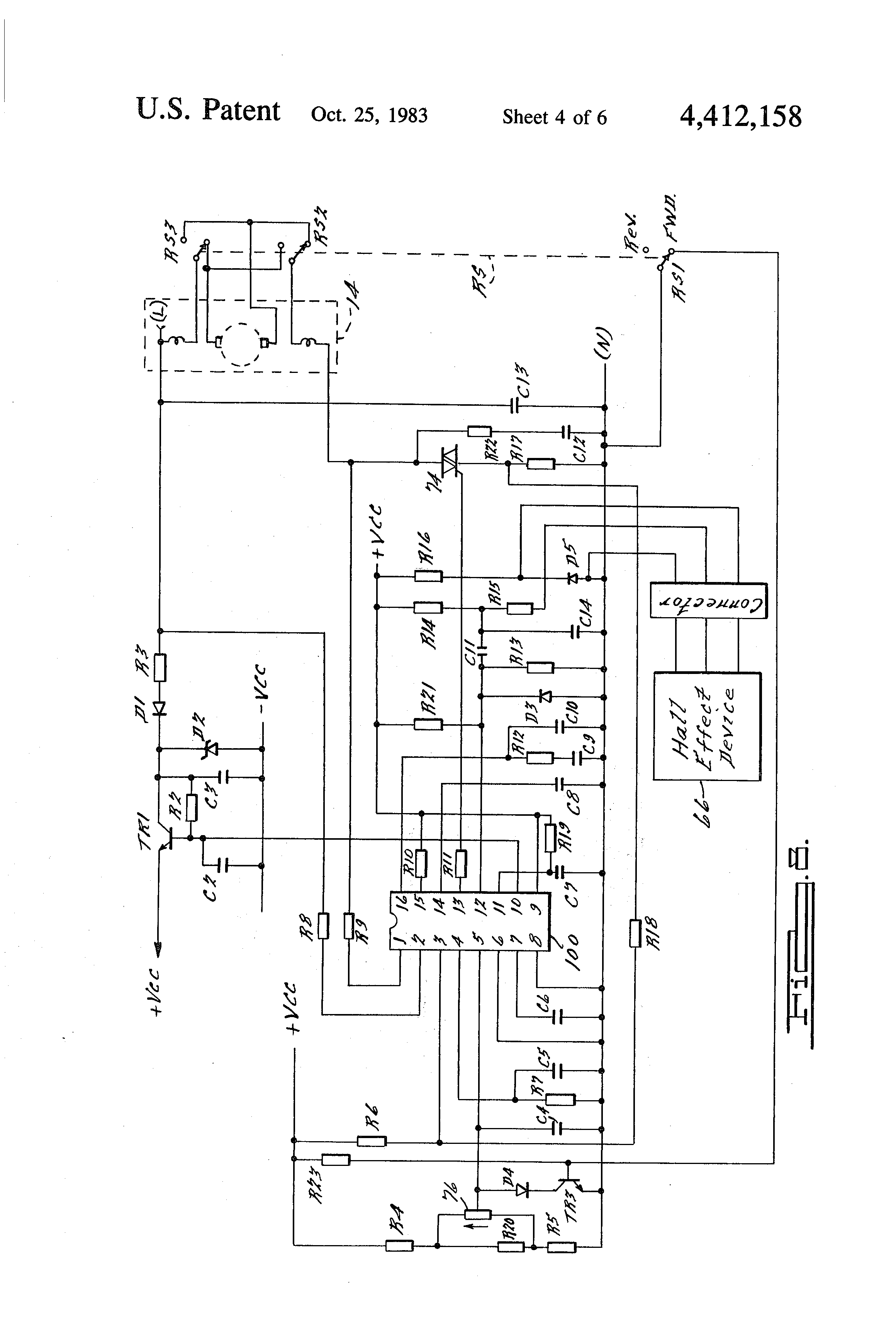 patent us4412158 - speed control circuit for an electric ... wiring diagrams for power tools arduino input wiring diagram for power