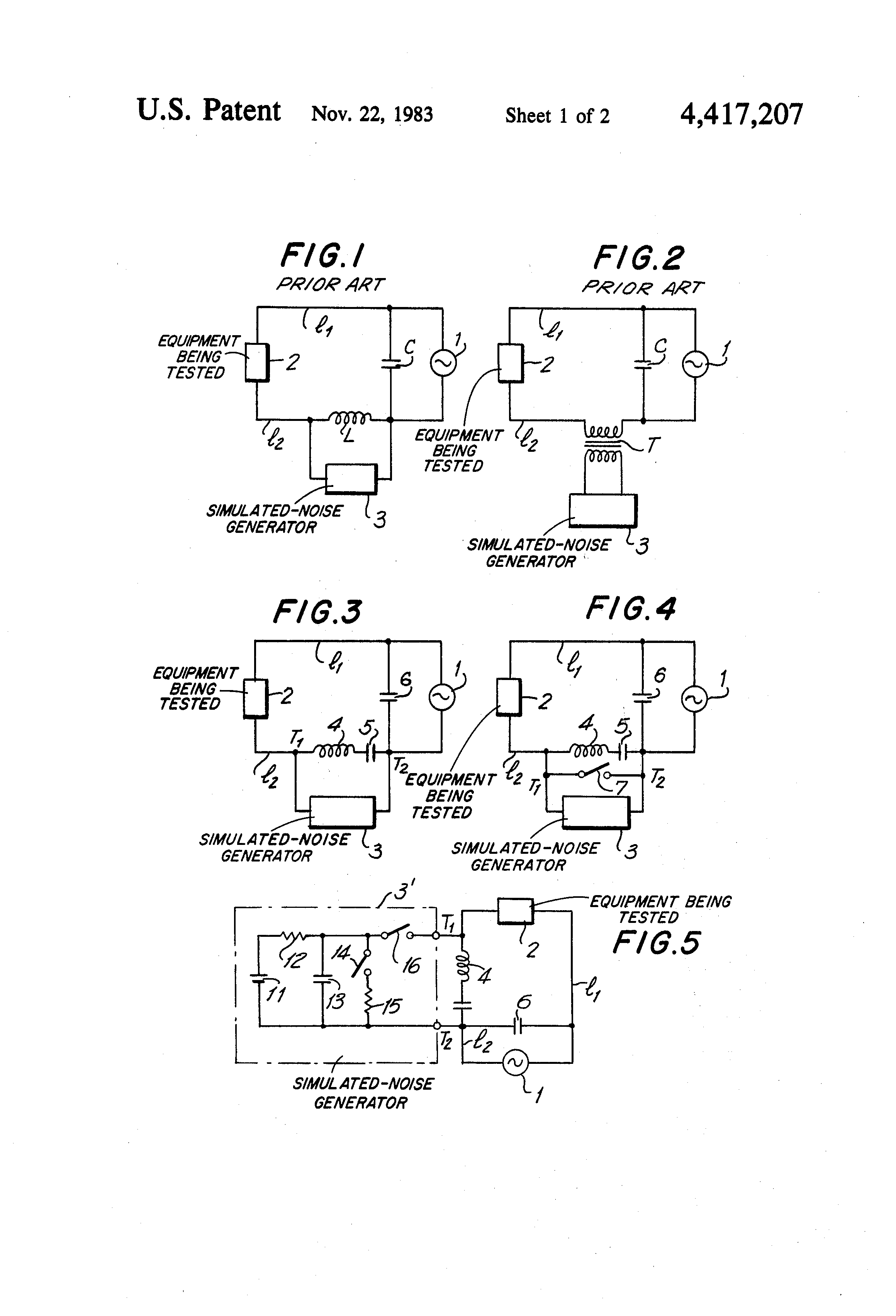 Us4417207a Circuit For Injecting Simulating Noise Signals In A Alternating Square Pulse Generator Diagram Power Line Google Patents