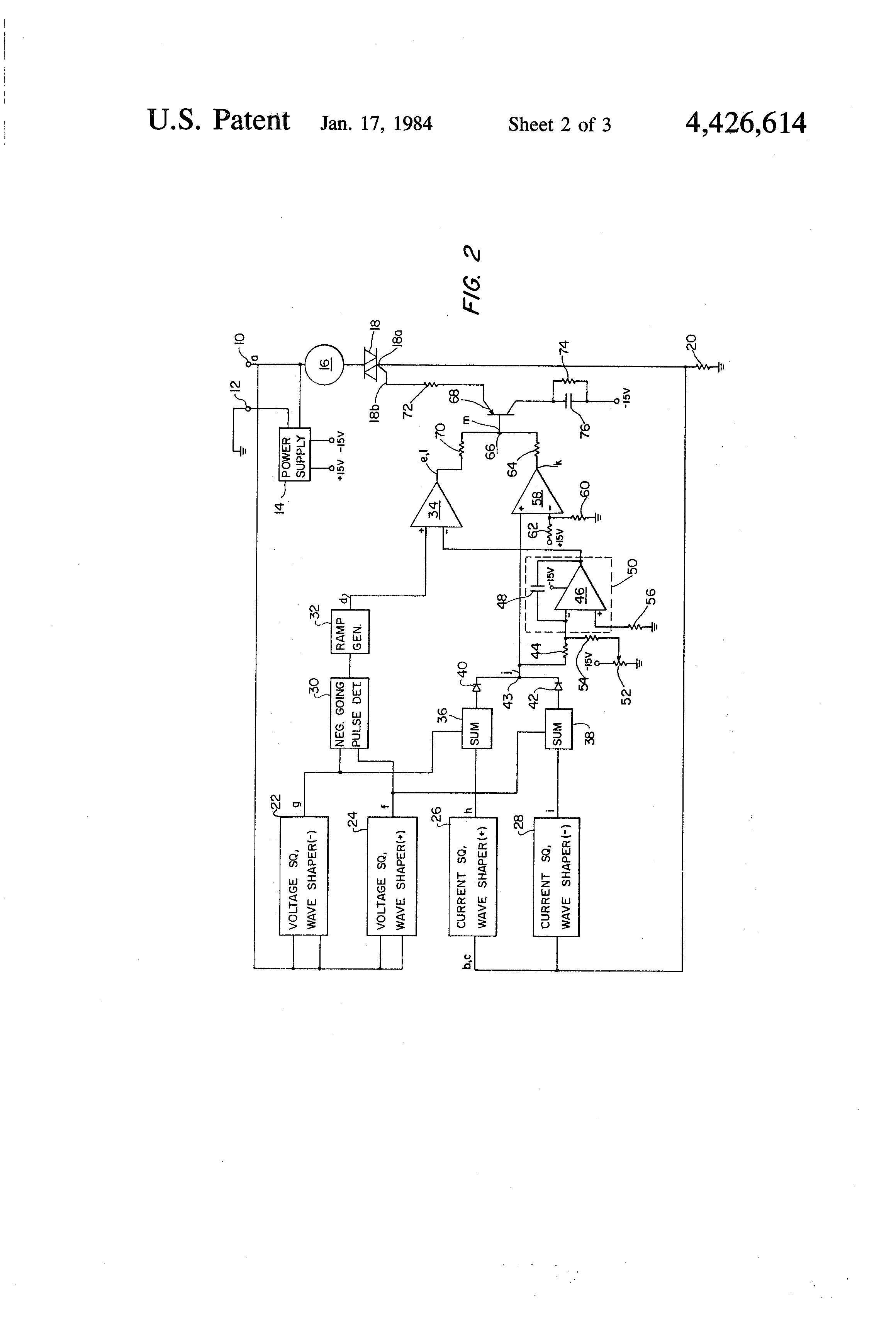 Patent Us4426614 Pulsed Thyristor Trigger Control Circuit Google Of Complete Diagram Firing Angle For Triac Drawing